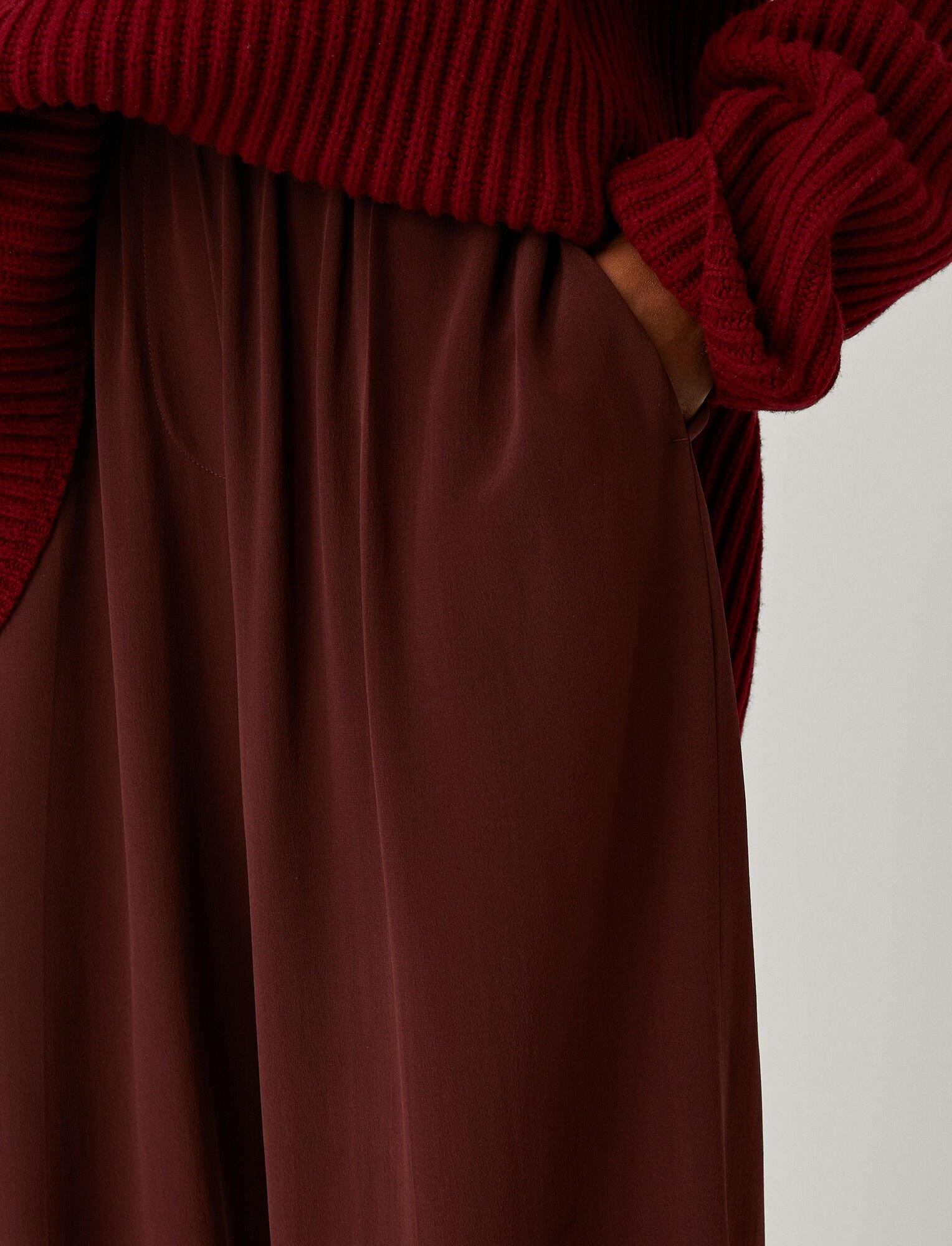 Taffy Silk Pants Ganache