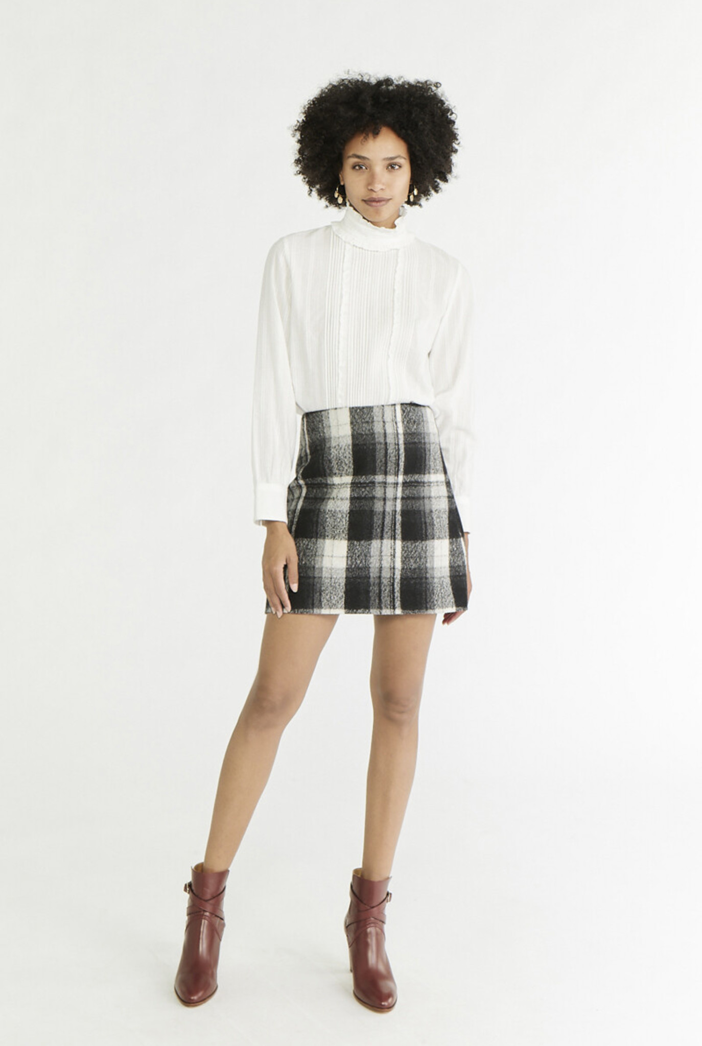 Powell Skirt Black Check