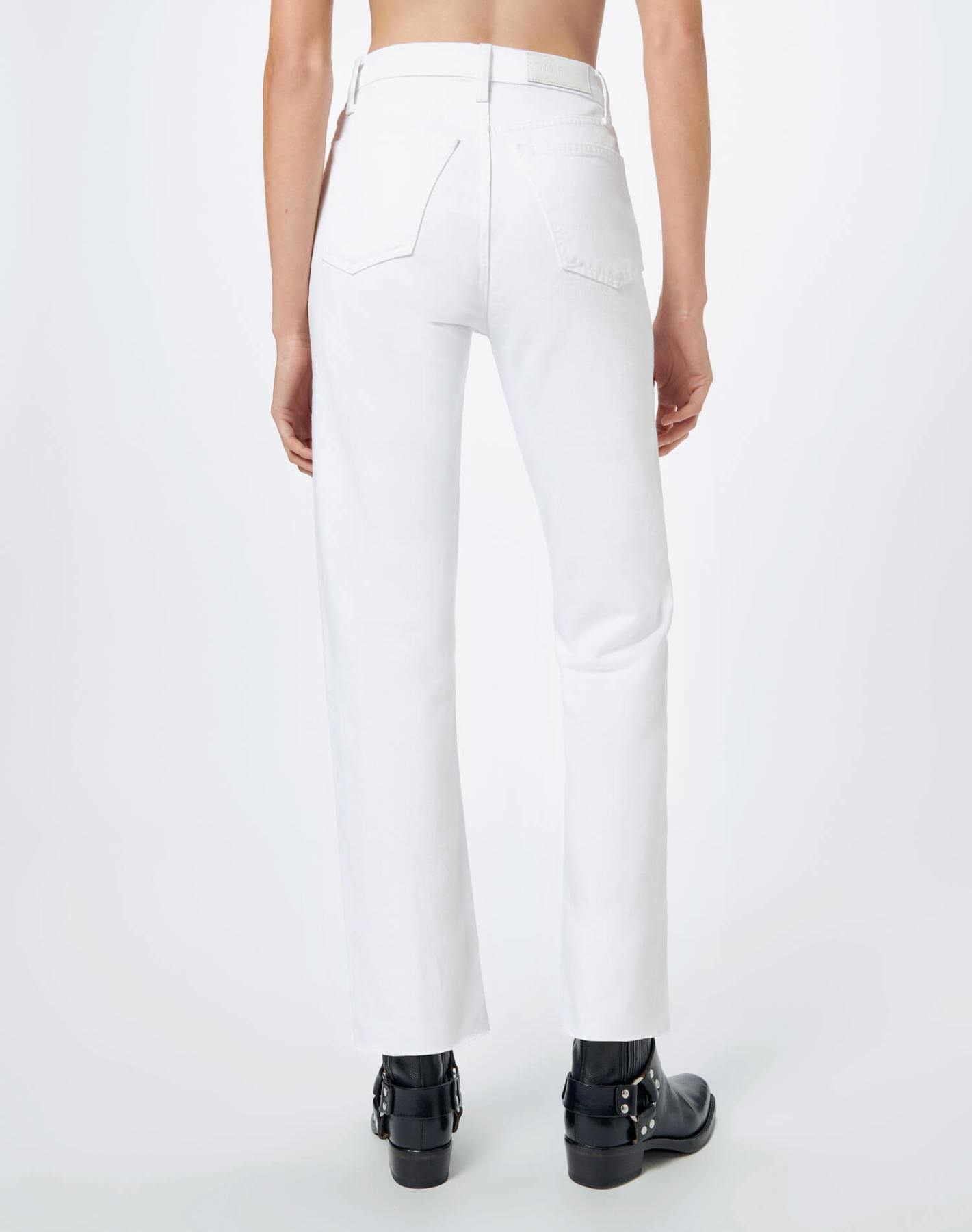Stove Pipe Jeans White