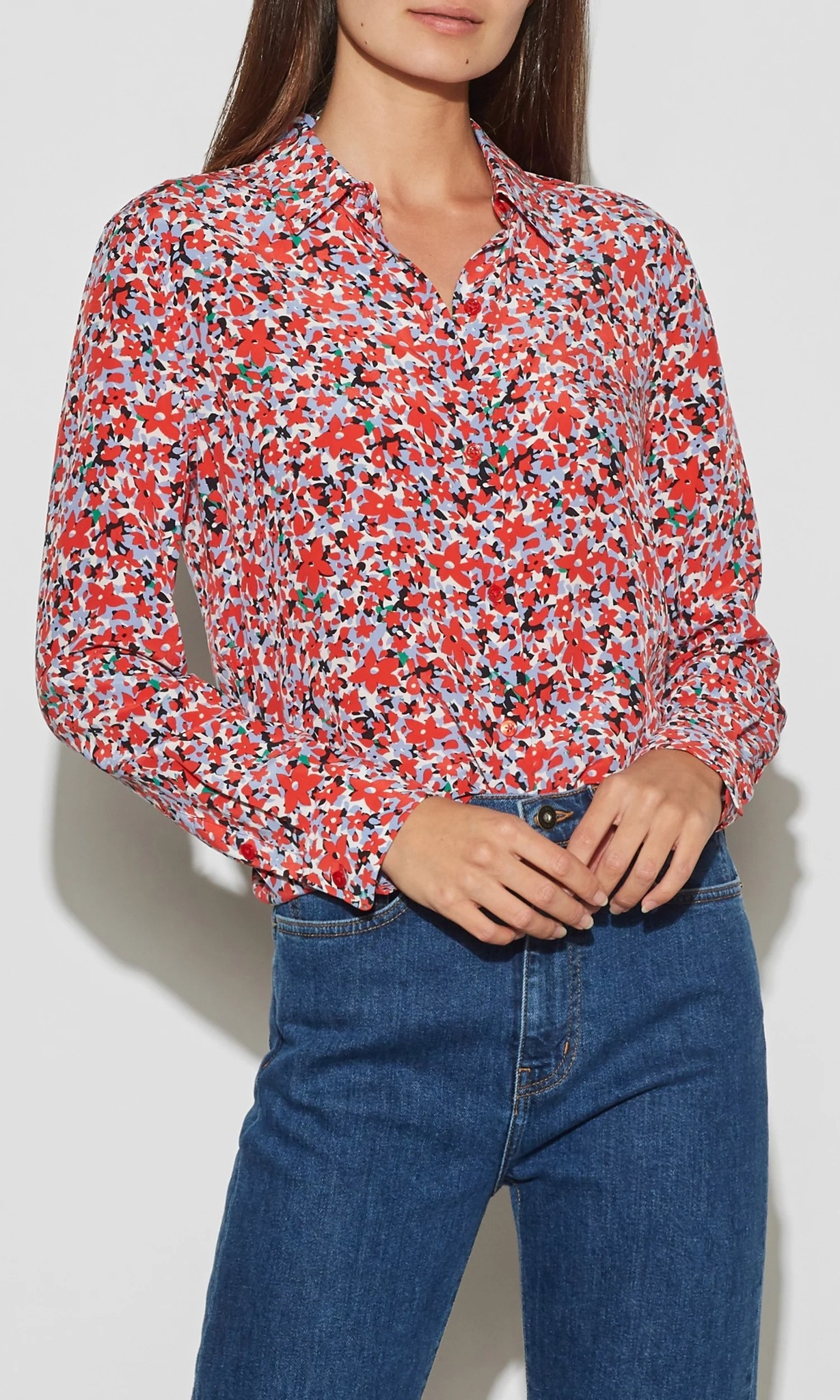 Essential Blouse Flame Scarlet Multi