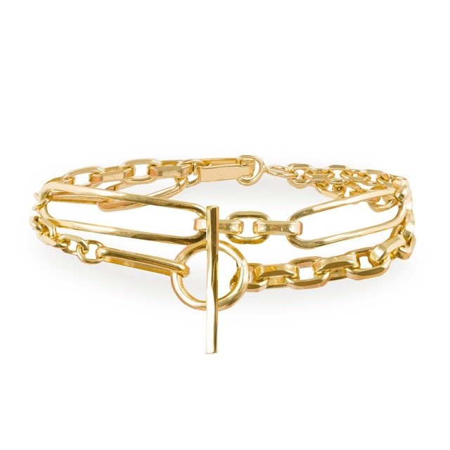 Chains bracelet gold plated
