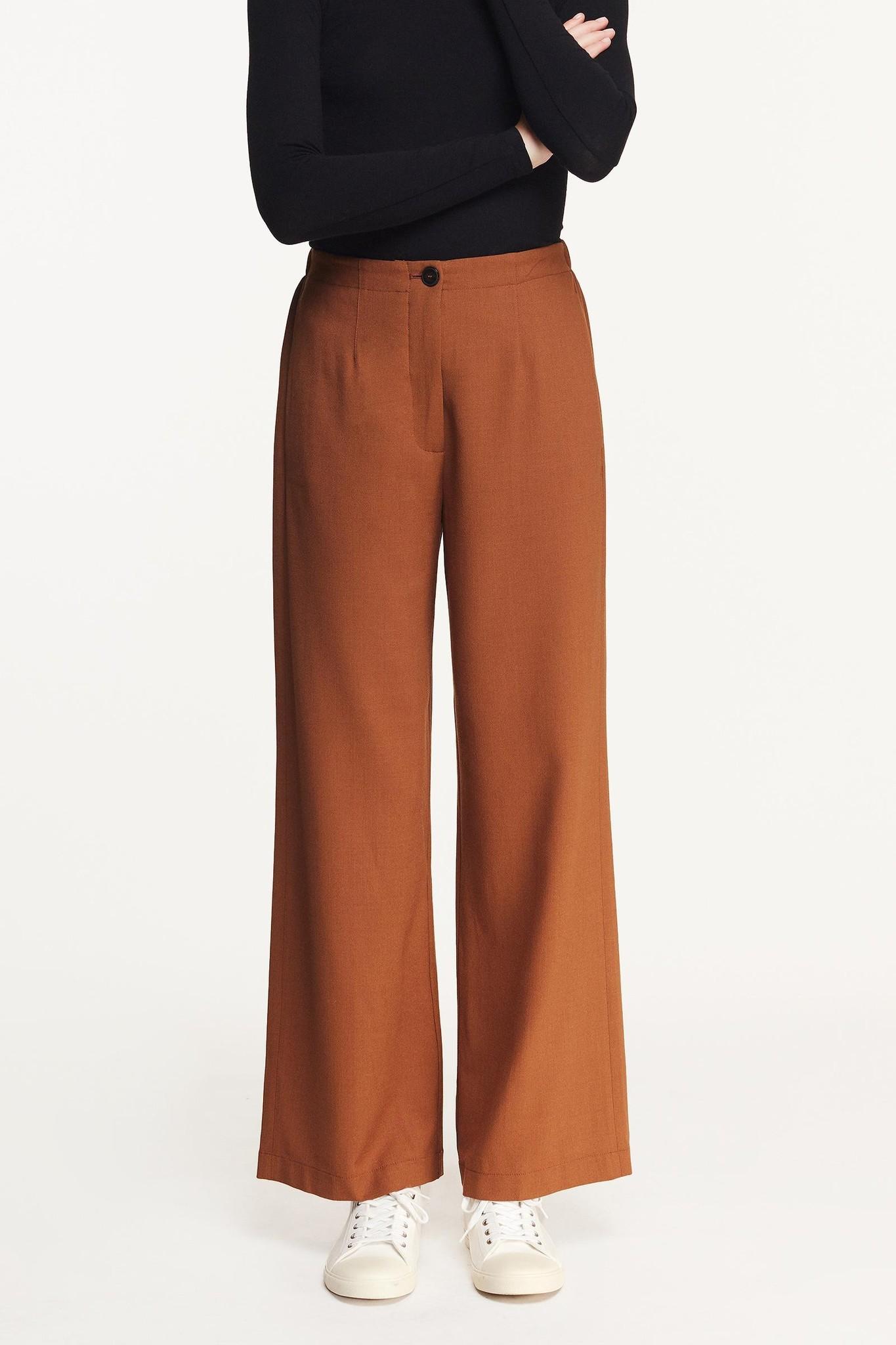 Straight Trouser Elastic Camel