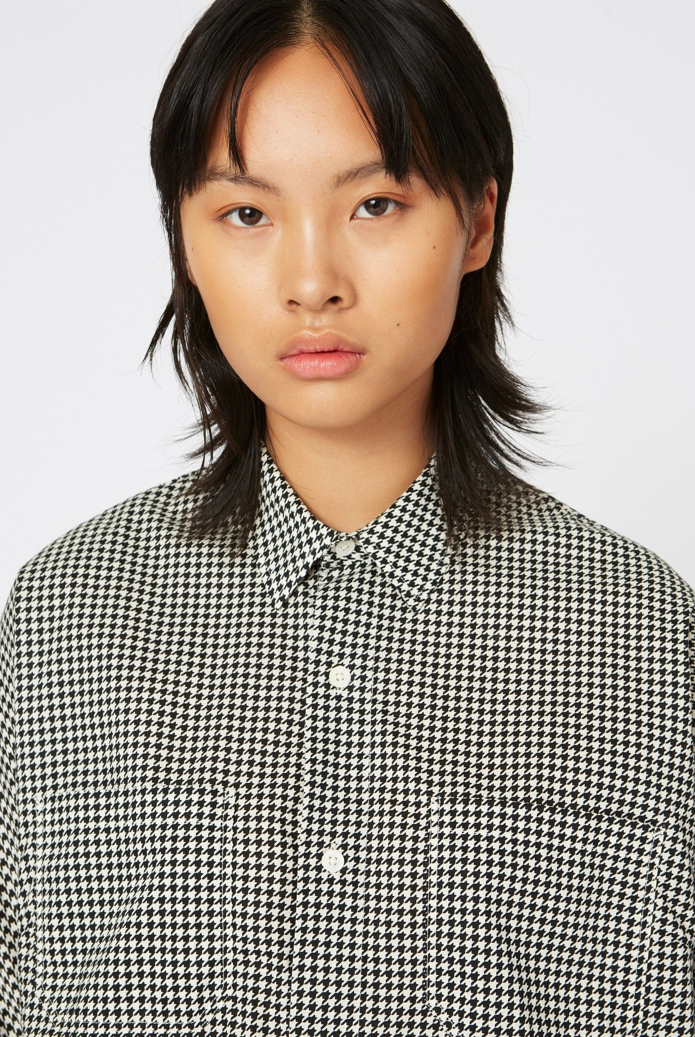 Way Shirt Creme White Dogtooth