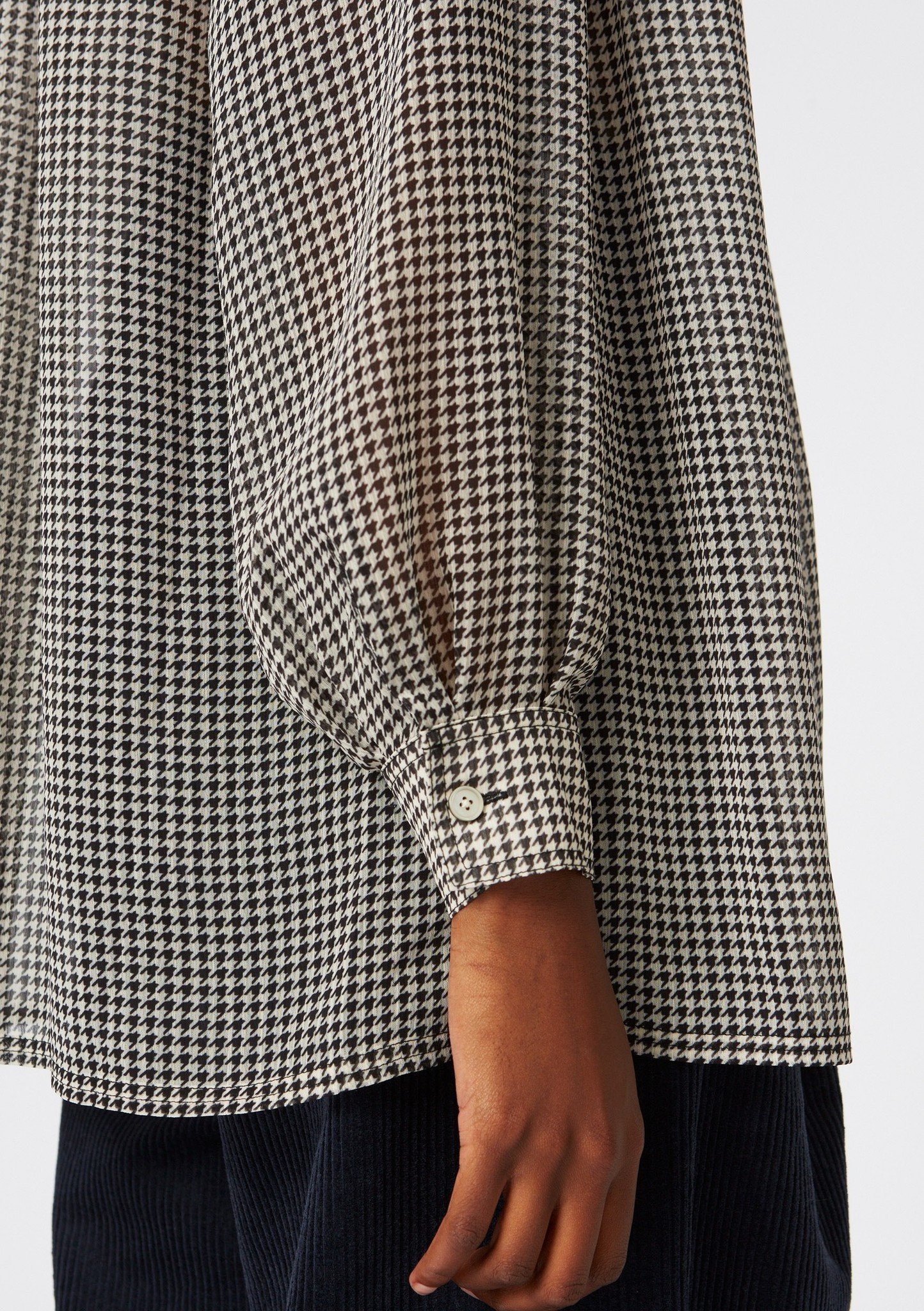 Pearl Shirt Beige Dogtooth