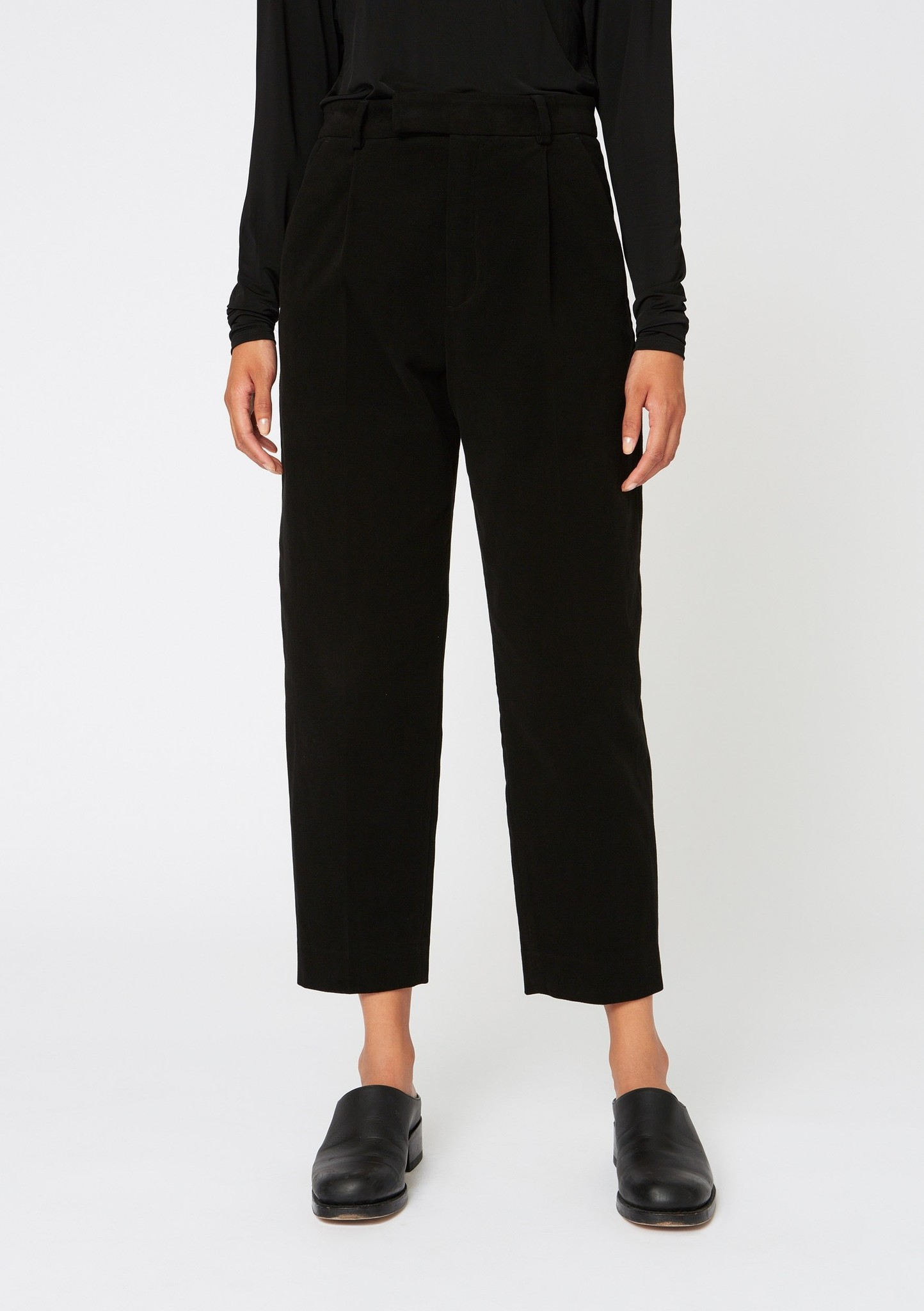 Alta Trouser Black Moleskin
