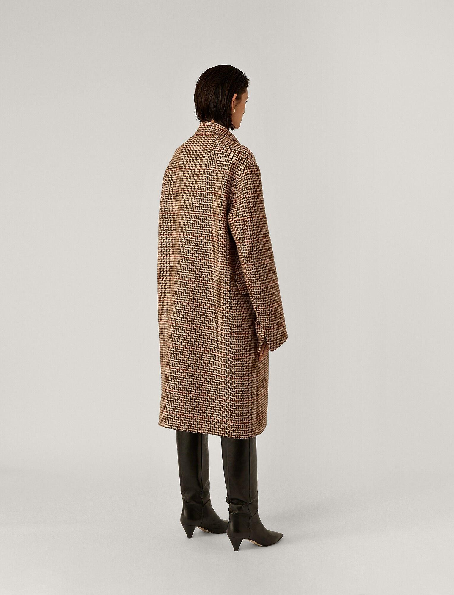 Carles Coat Chocolate Check