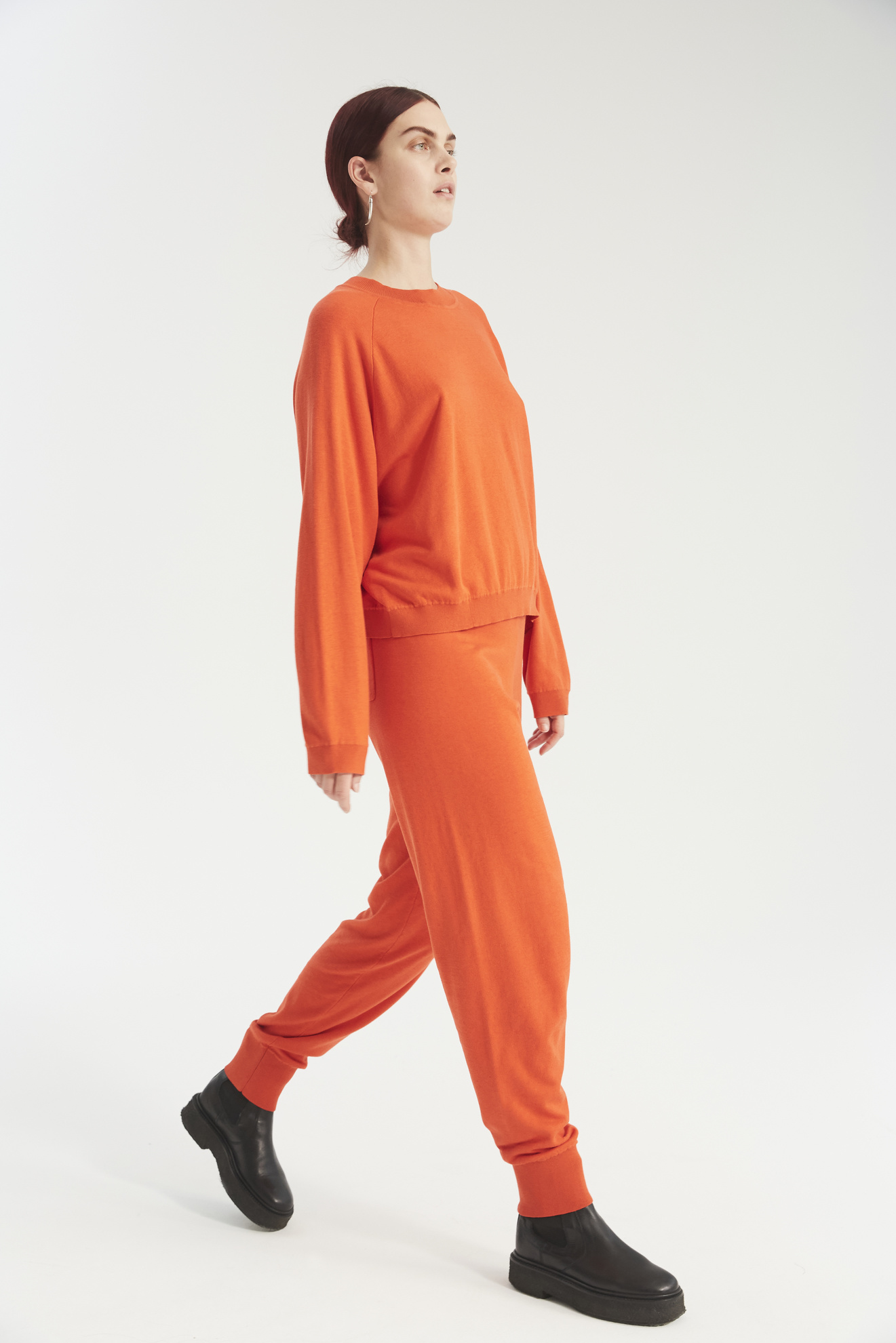 Zana knit pants bright orange