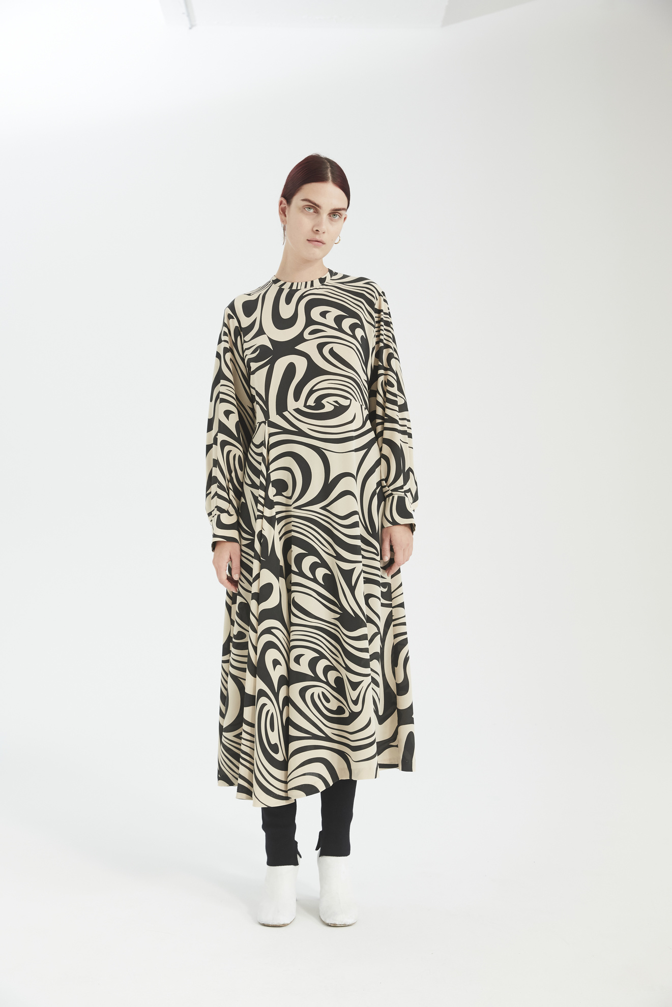 Miller dress black swirl