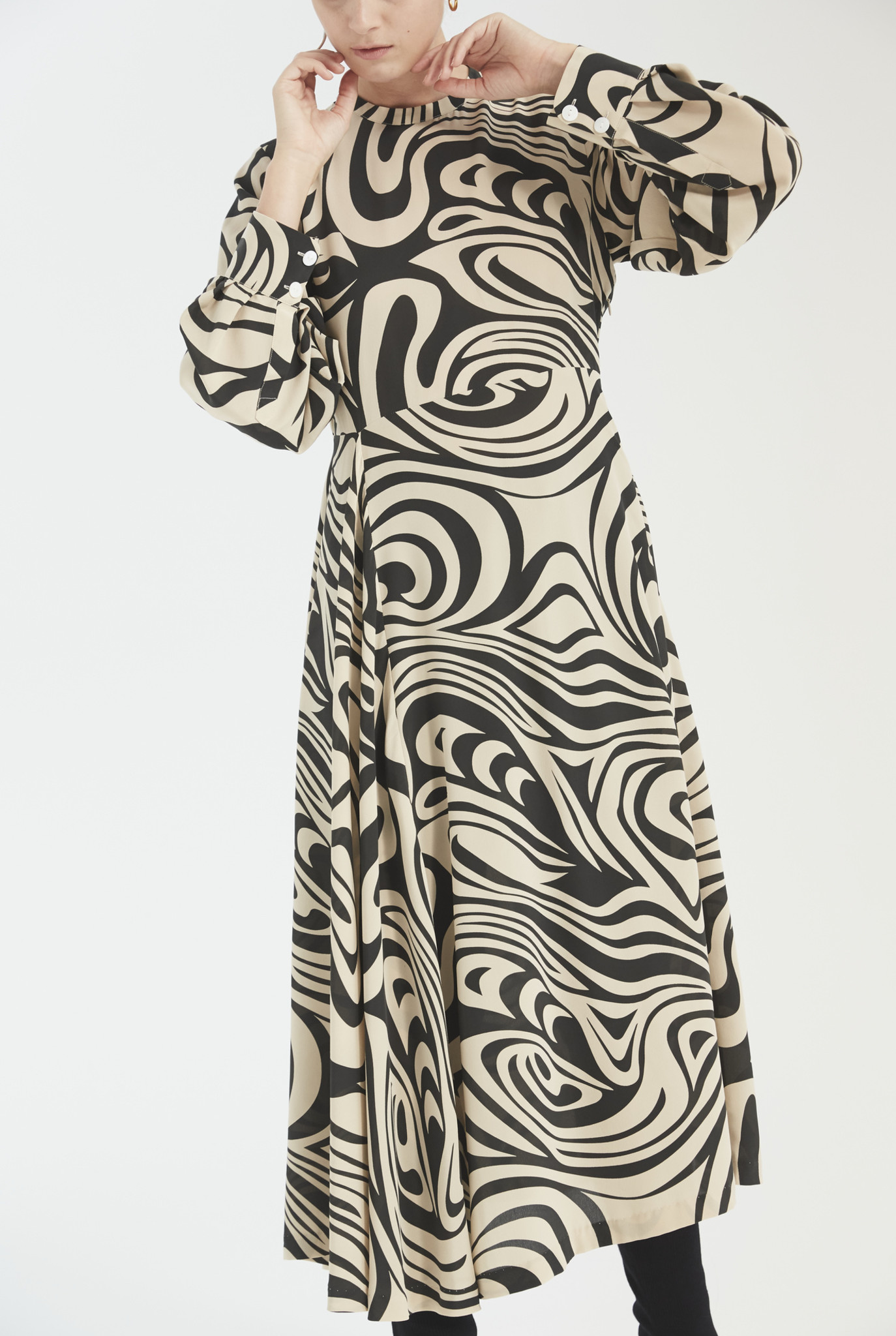 Miller dress black swirl