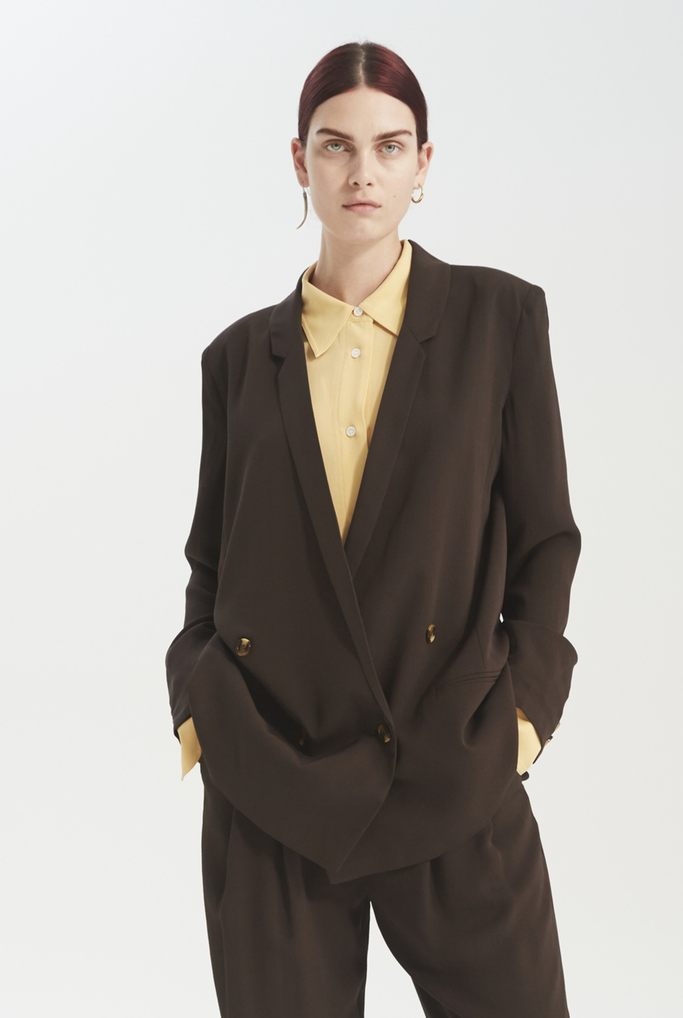 Oxford blazer dark brown