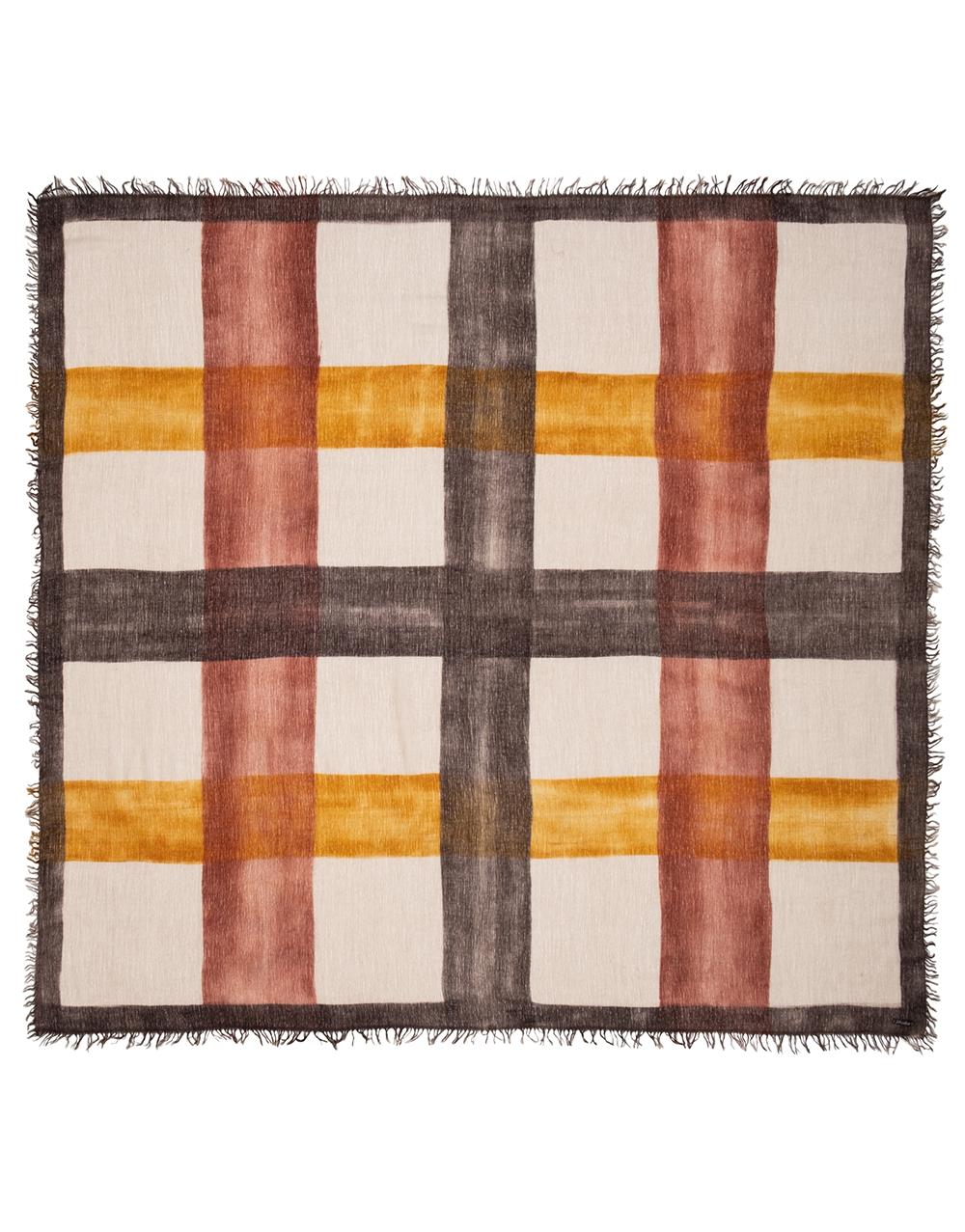 Mercury scarf ocre brown orange square