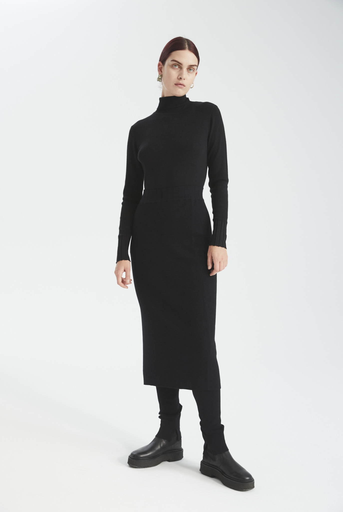 Ellis knit skirt black