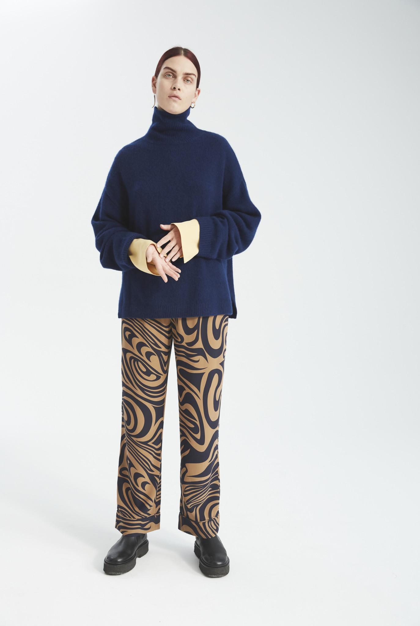 Bez knit mao blue