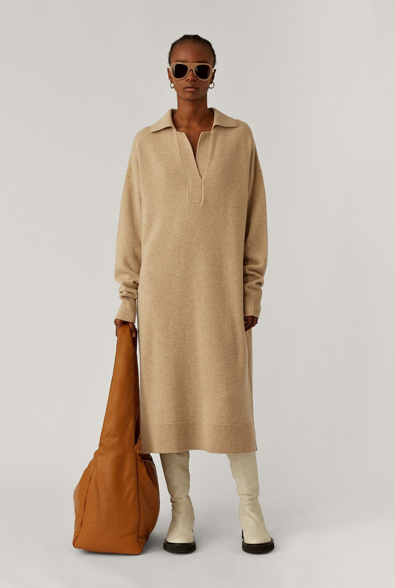 Polo Dress O'Size Knit Linen