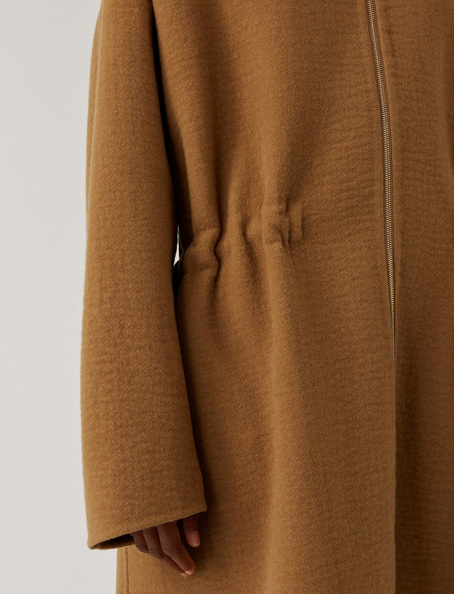 Colty Compact Wool Cashmere Coat Camel