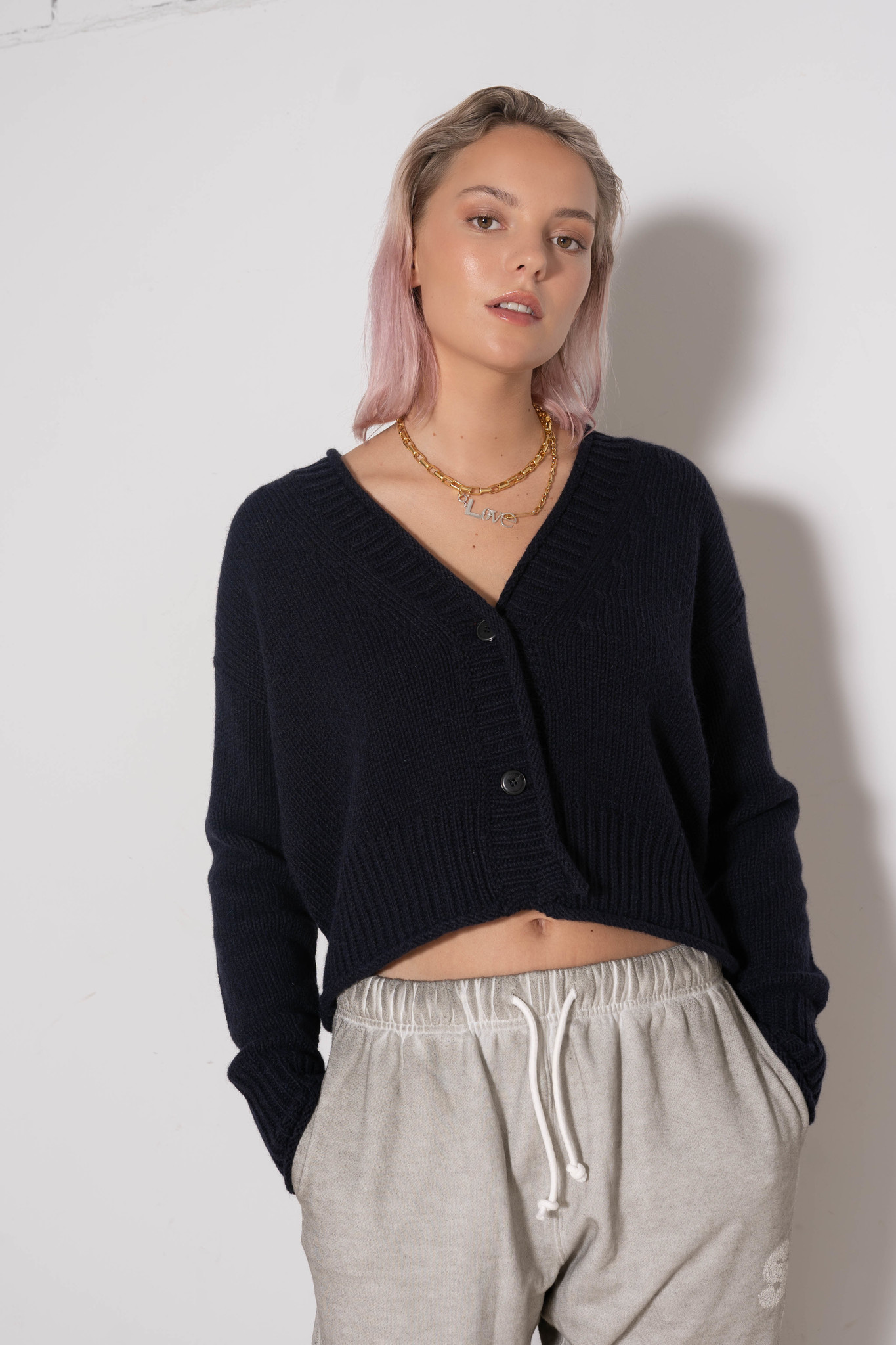 Short Cardigan Dark Blue