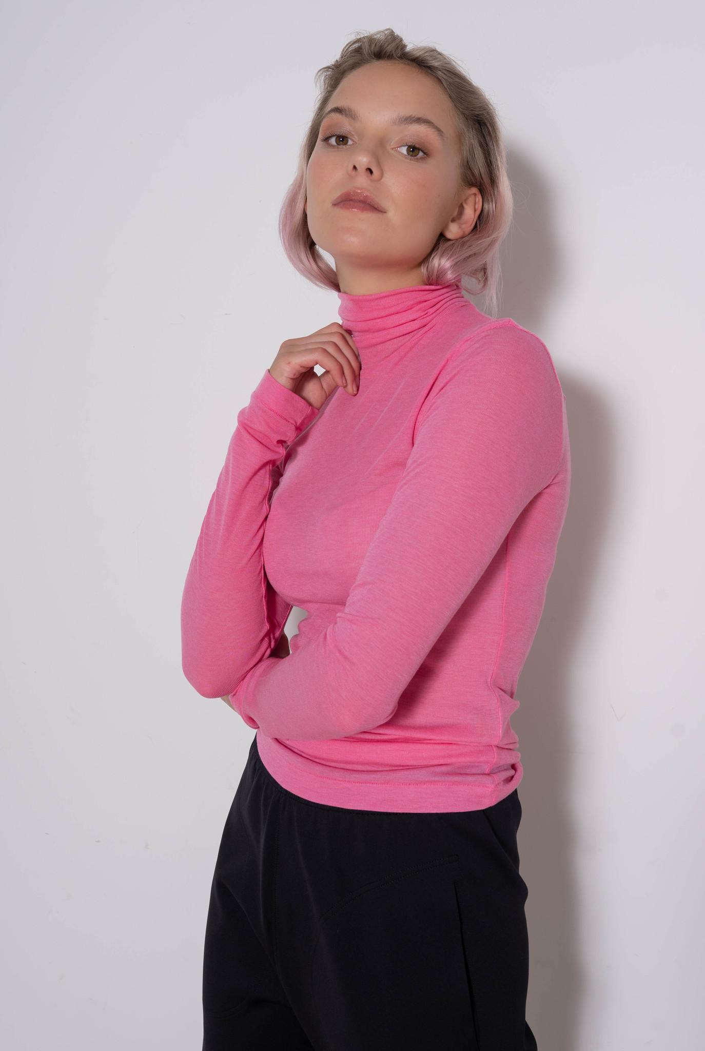 Turtleneck top Pink