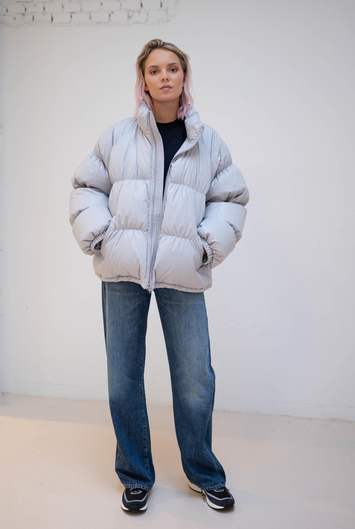 Puffer Coat Light Grey