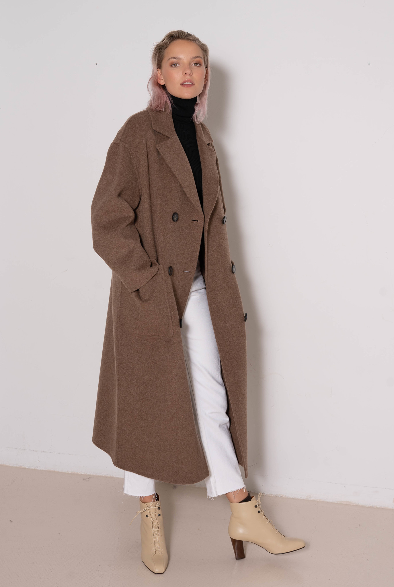 Partheo coat Taupe