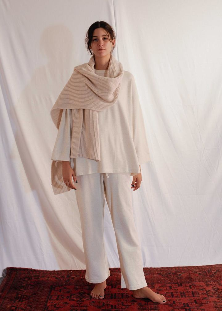 Chunky Knit Scarf Ari Off White