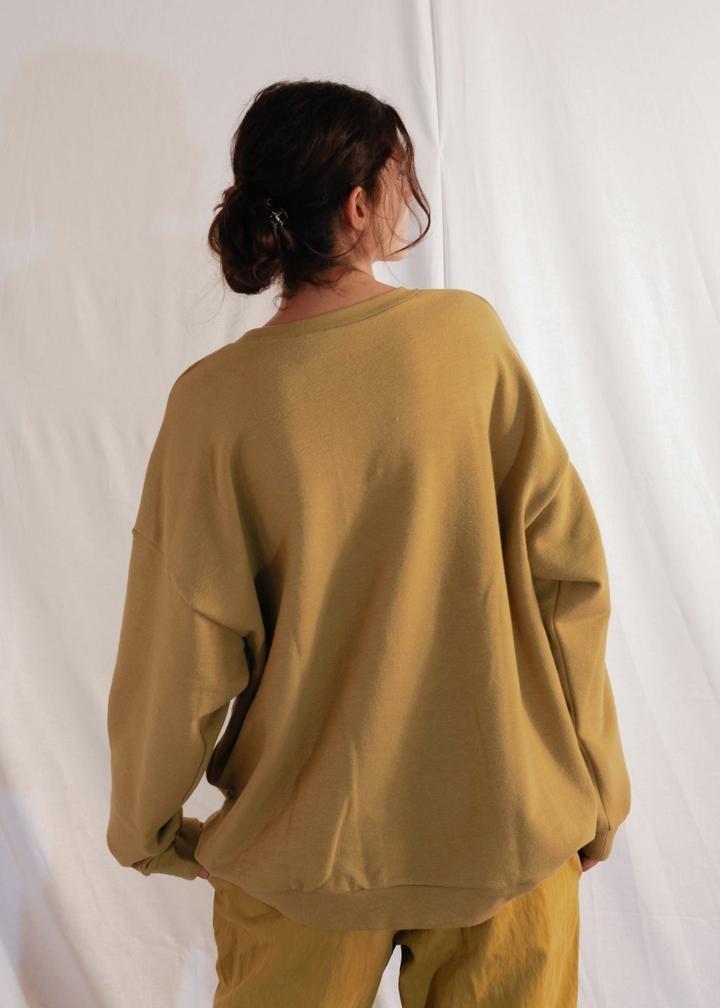 Classic Sweatshirt Ecru Olive