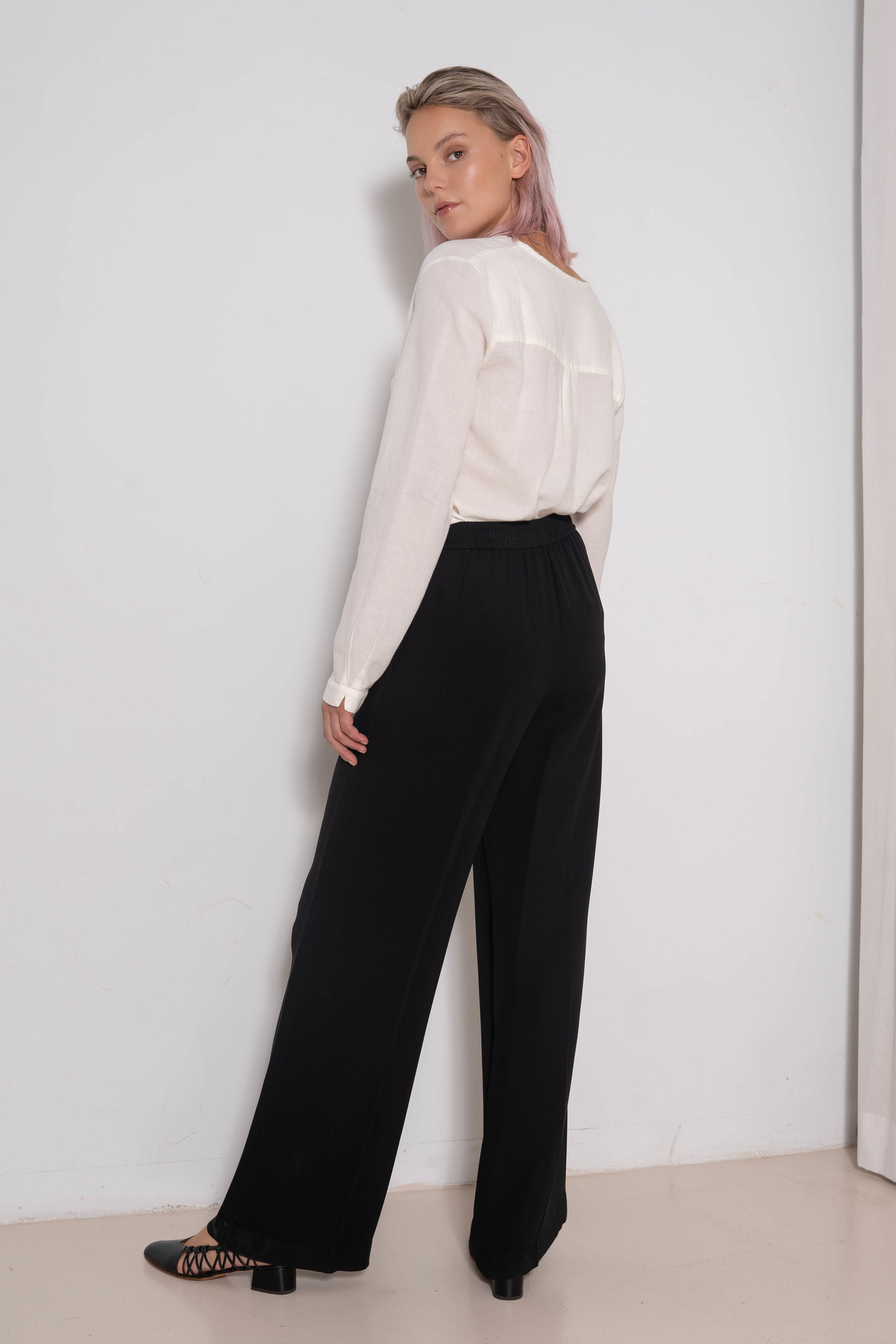Tawn Trouser Black Georgette
