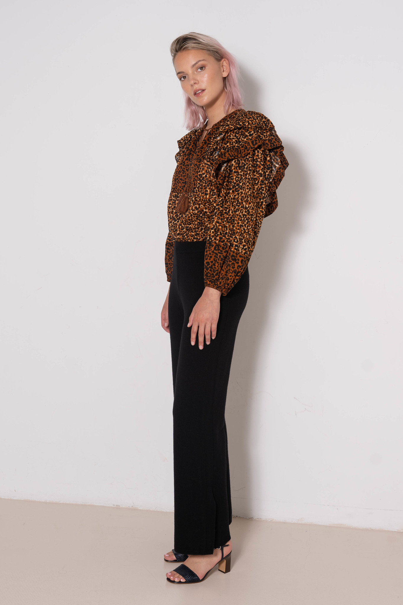 Pants A-cardigan Stitch Black