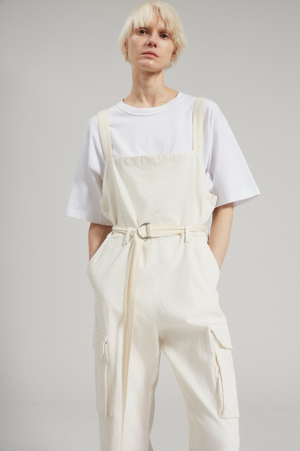 Venerate Jumpsuit Dirty White