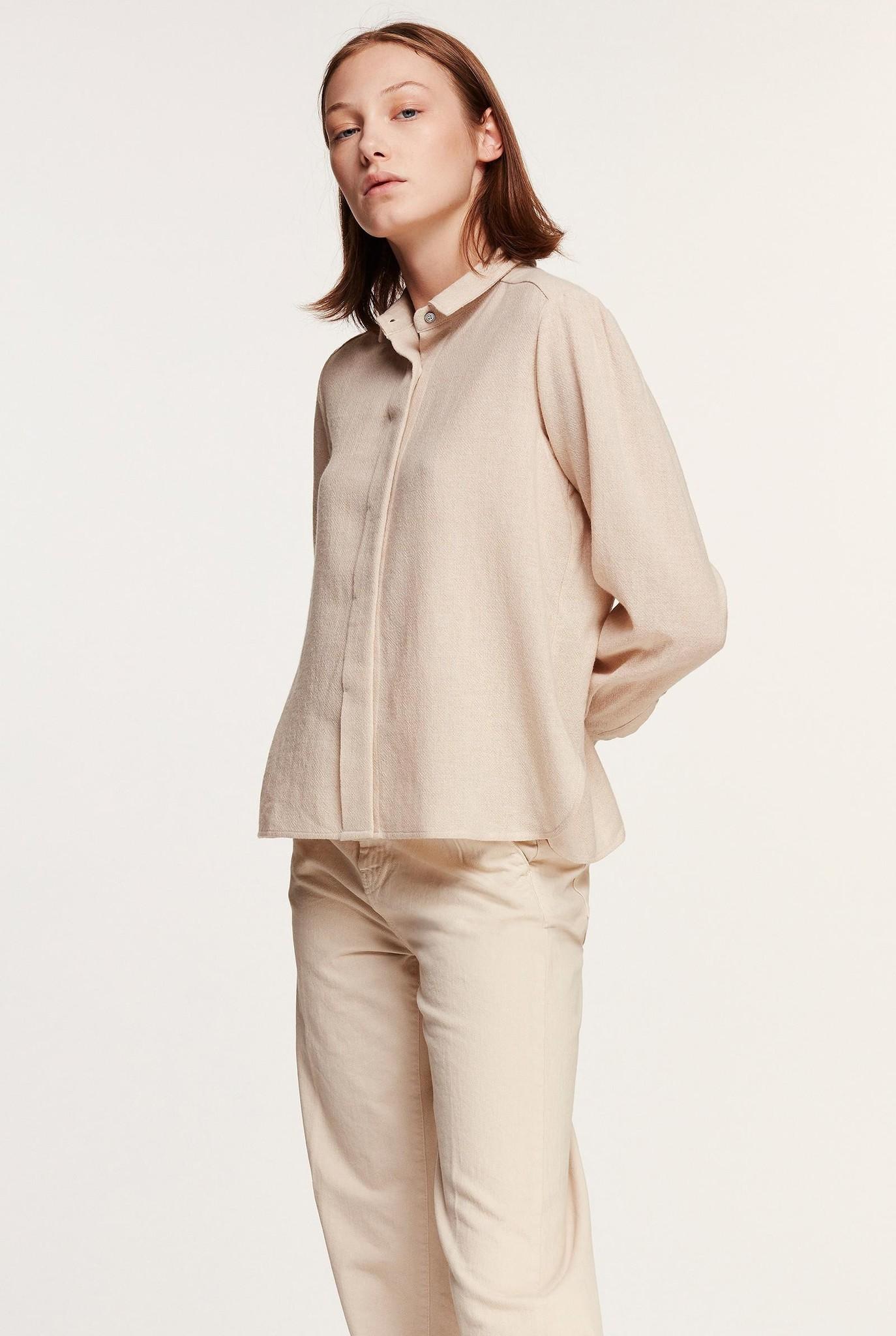 Shirt Wool Blend Sand
