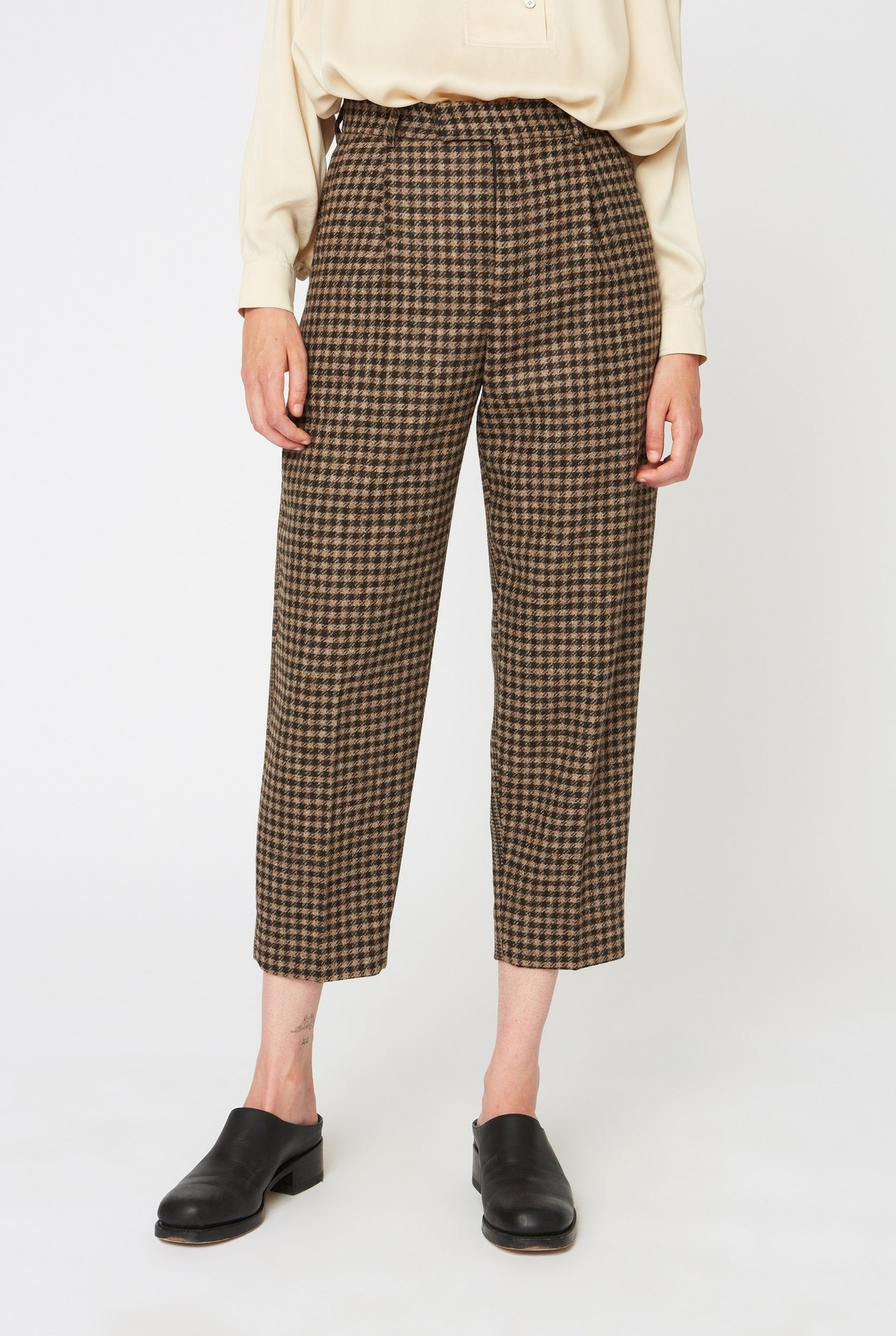 Alta trouser beige duo check