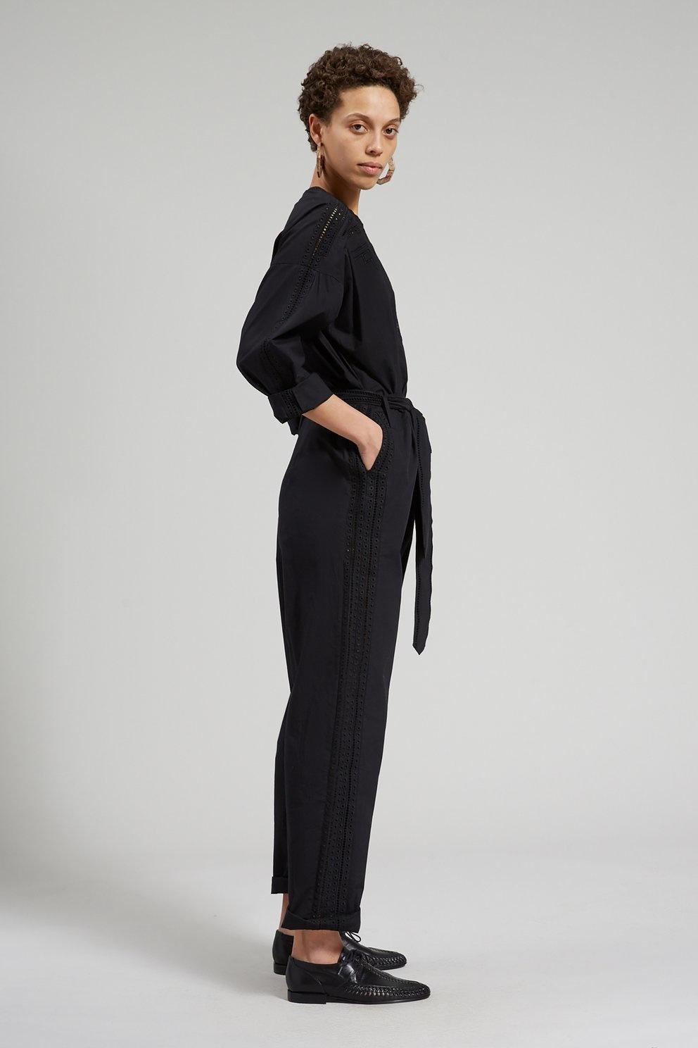 Glitch Jumpsuit Black
