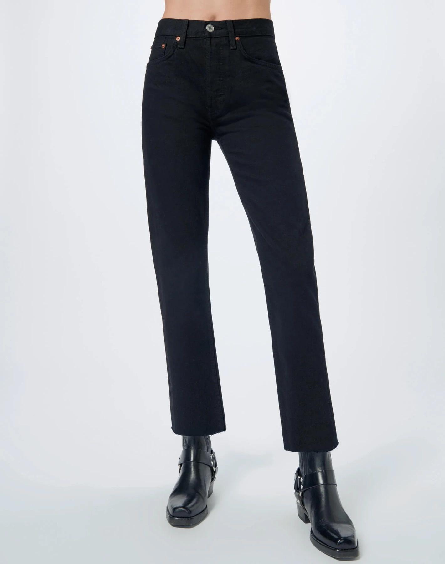 Stove Pipe Jeans Black