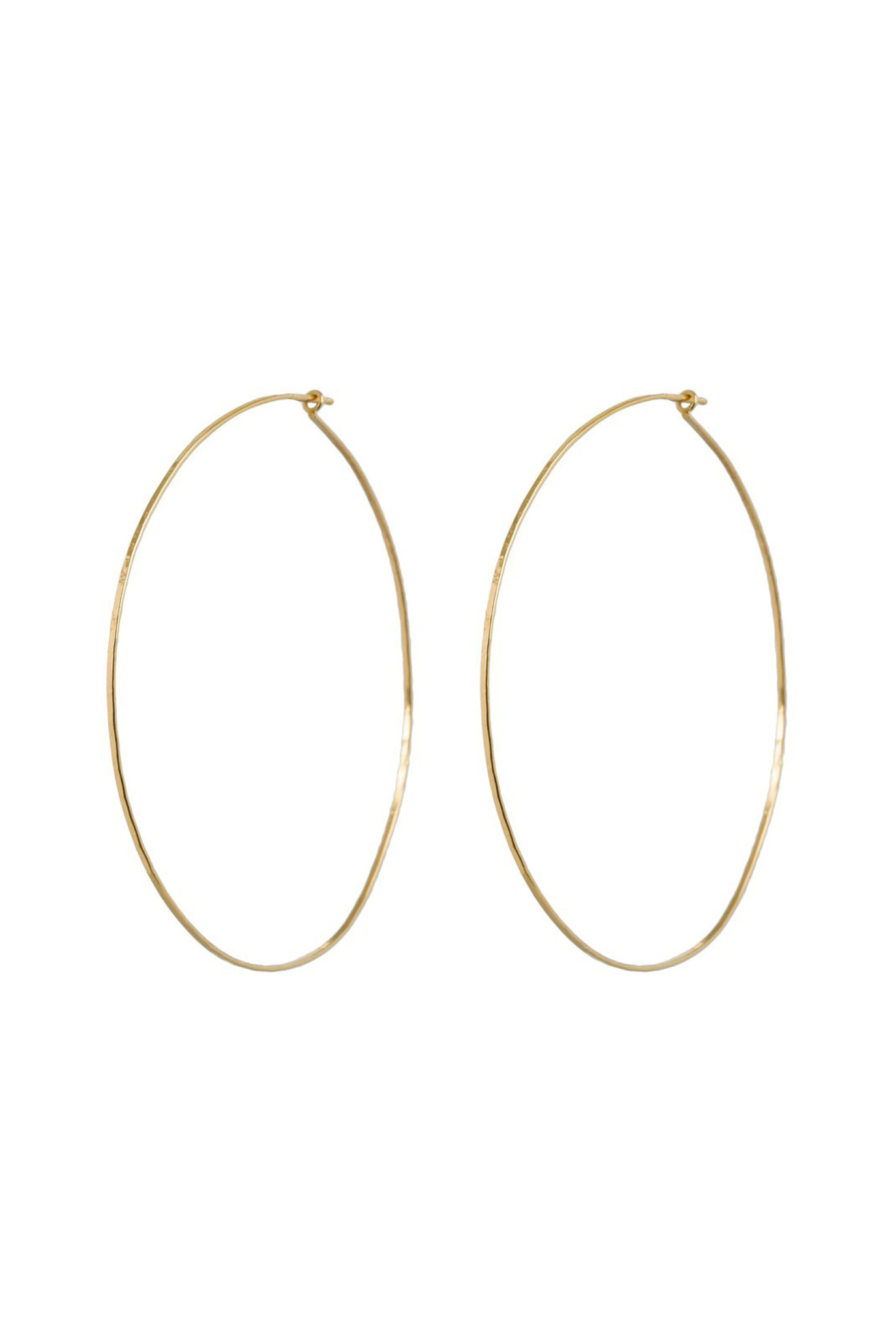 Statement hoops hammered gold plated