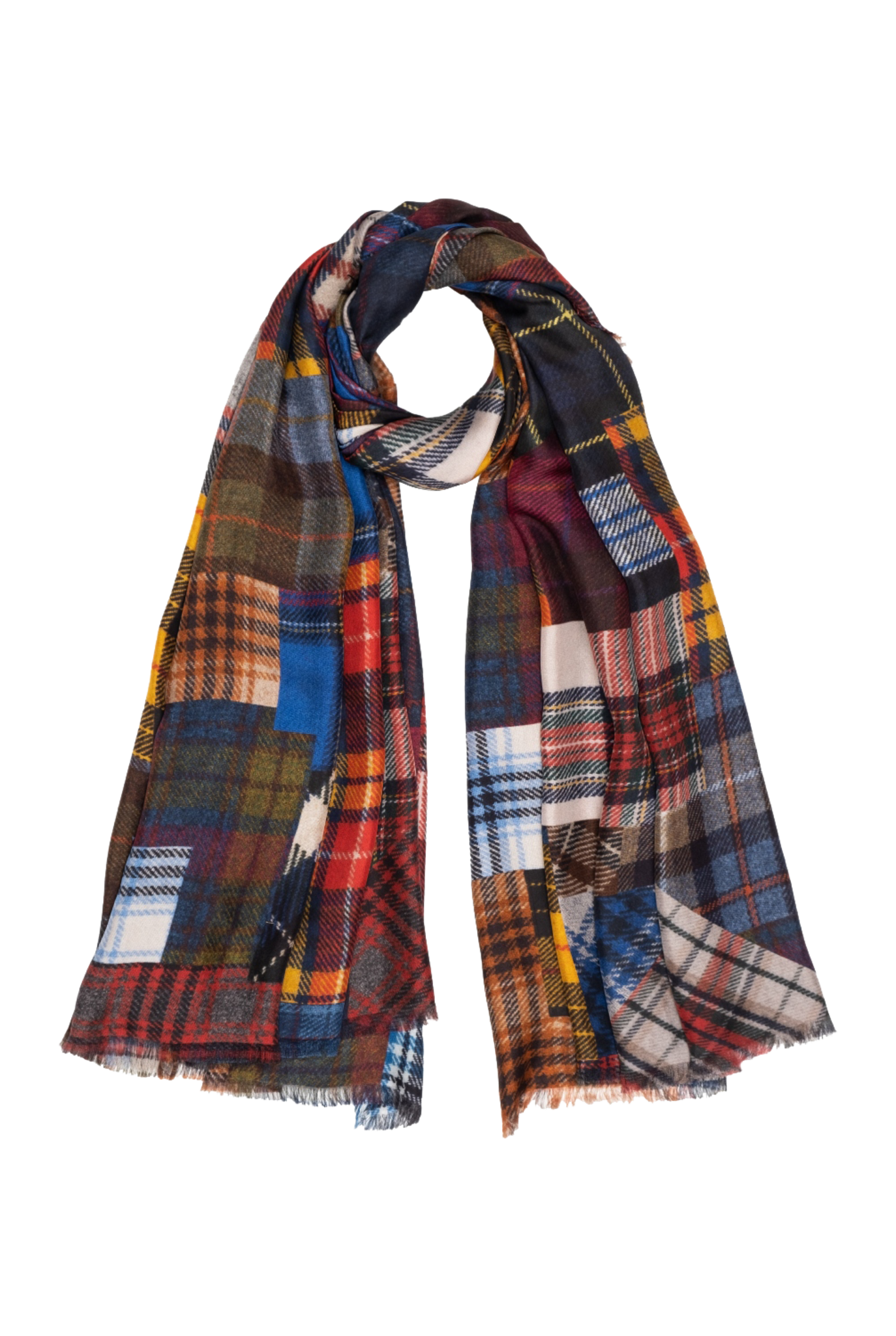 Scottish scarf red