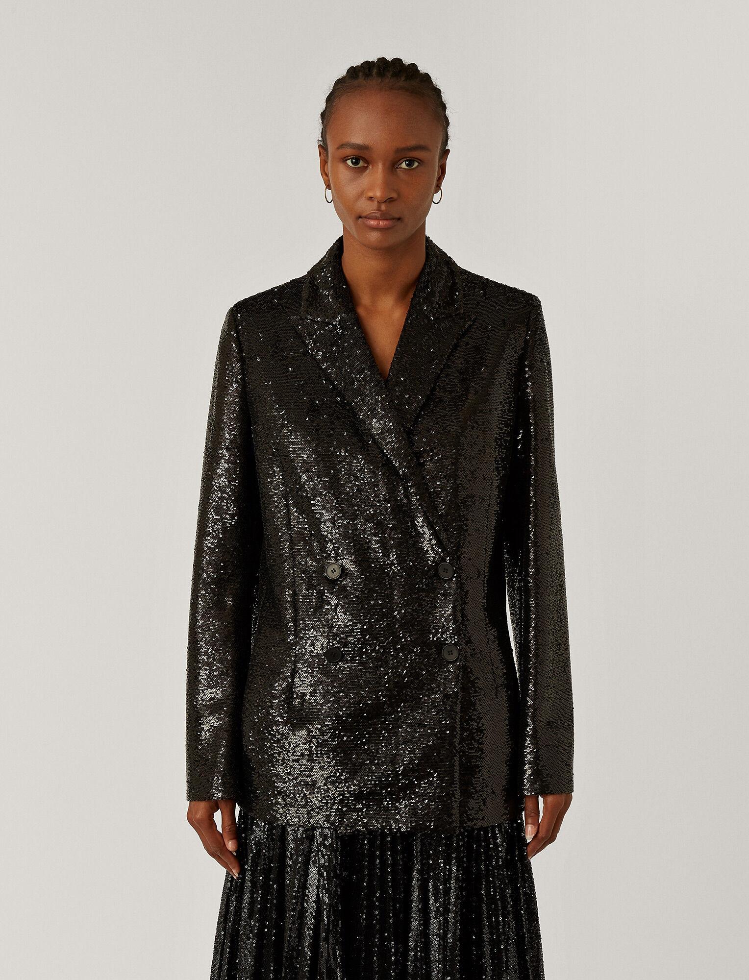Juliette Blazer Sequins Black