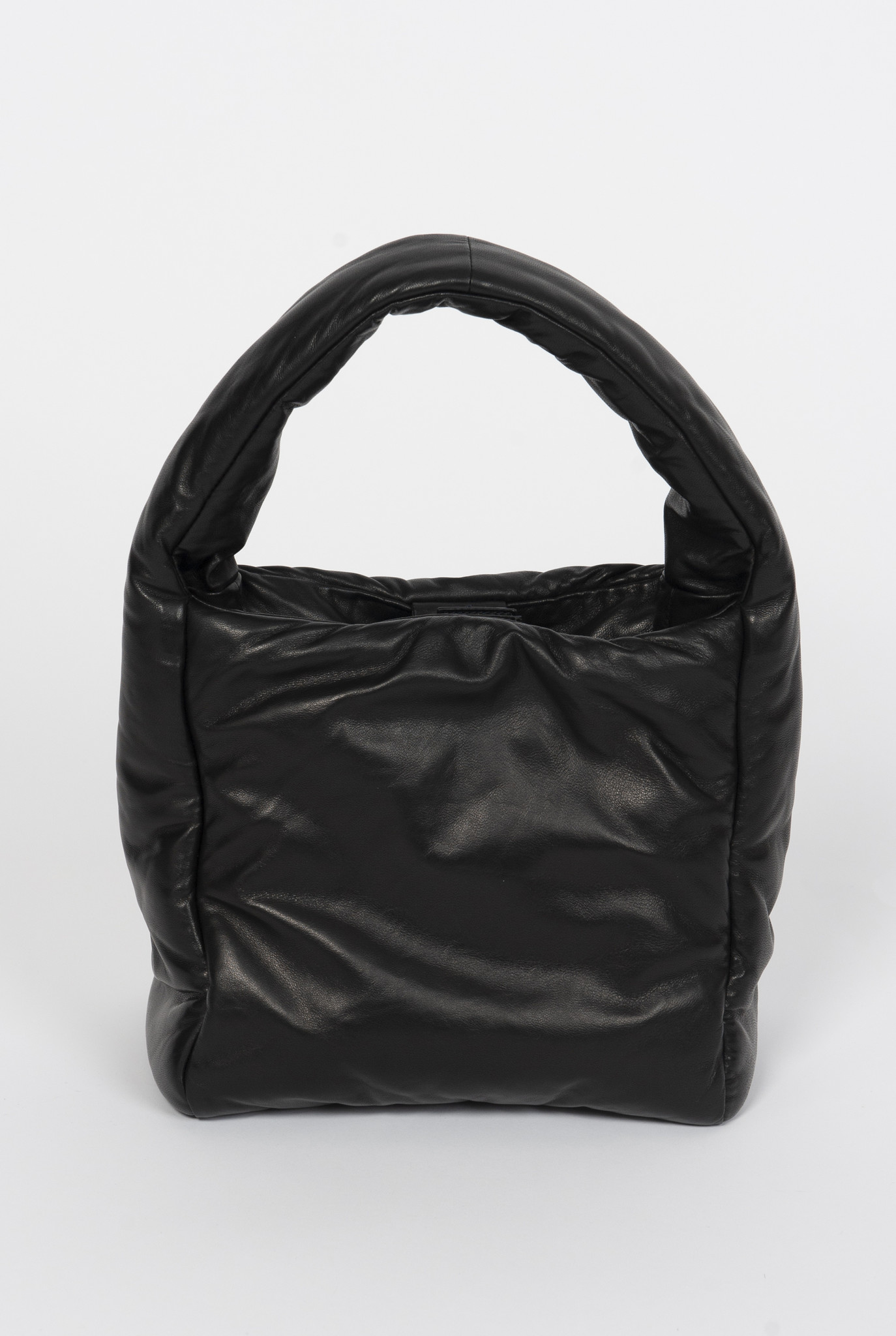 Slouch S bag Padded Leather Black