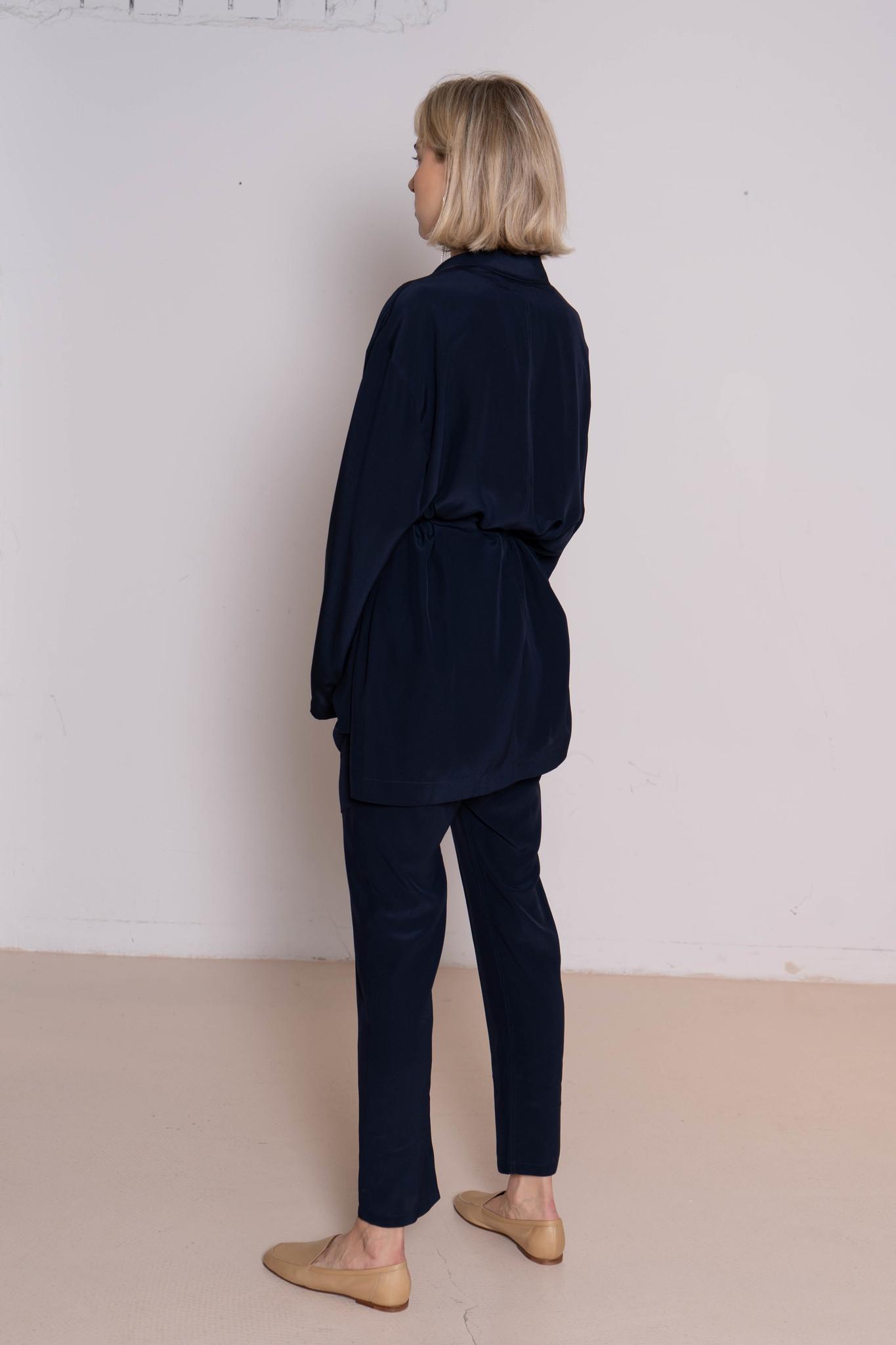 Donky blazer navy silk