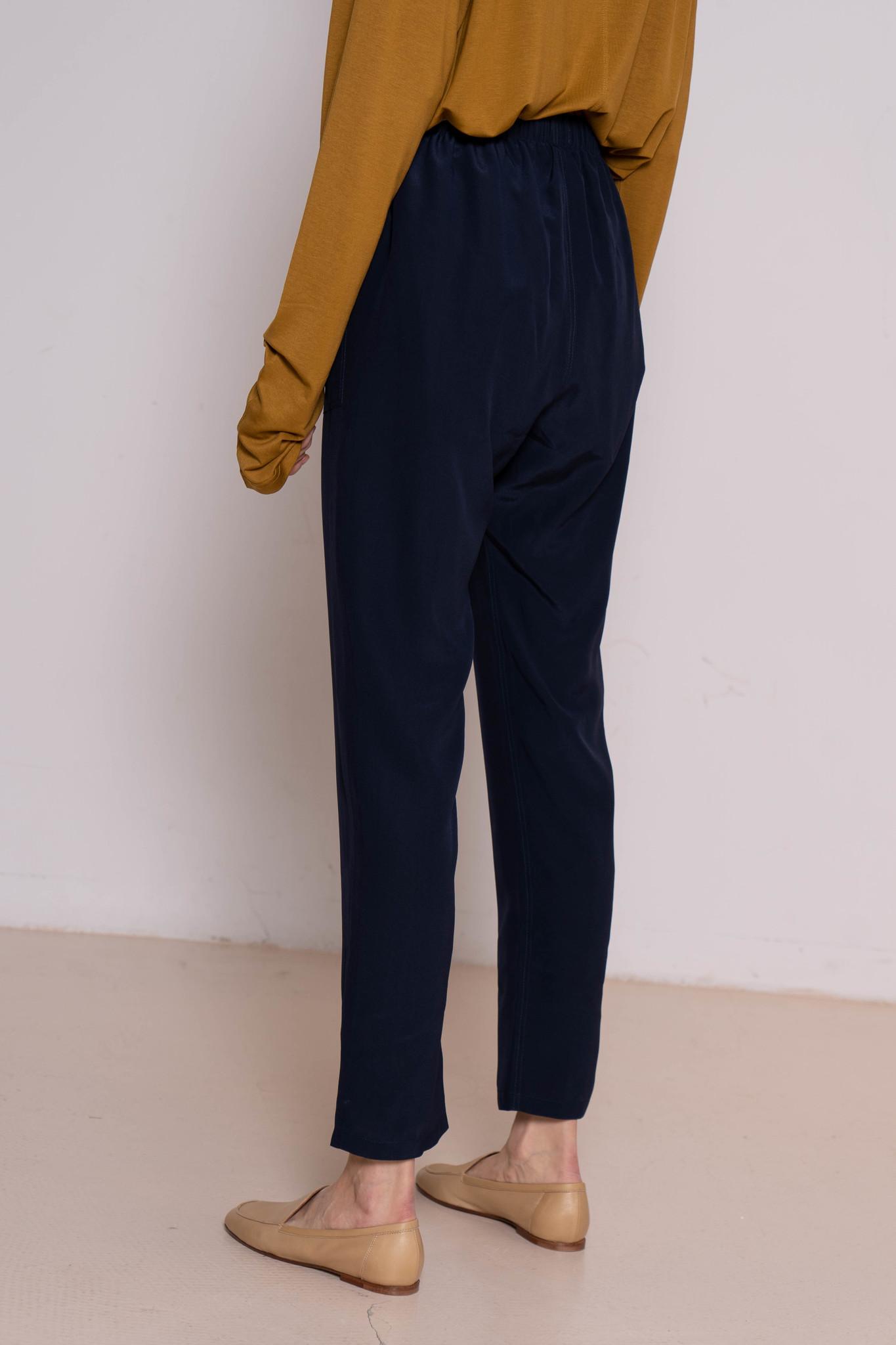 Pocky trouser navy silk