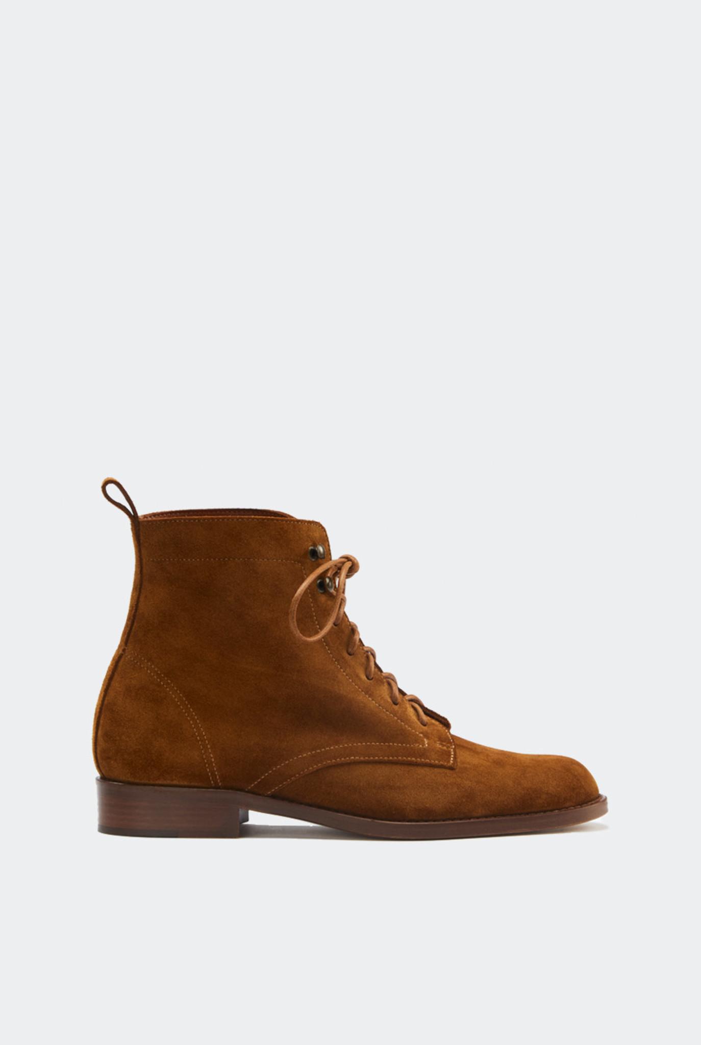 Court Boots Vintage Cognac Suede
