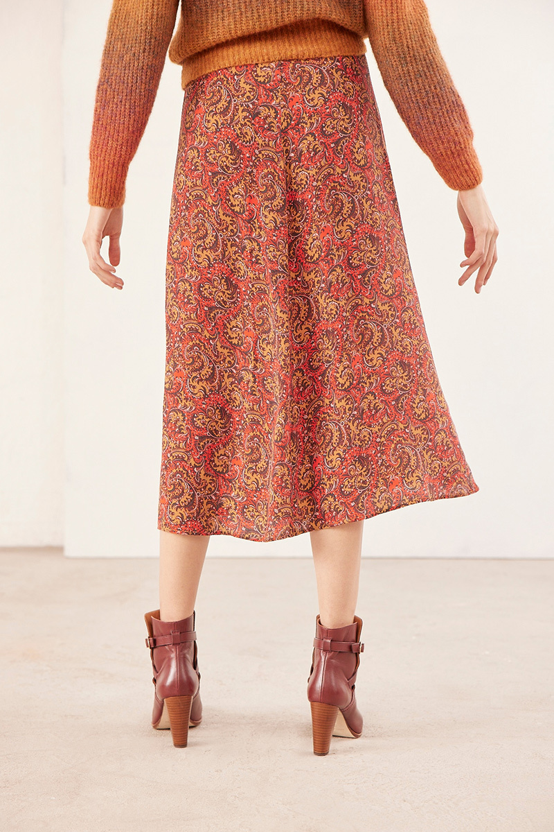 Rana skirt red print