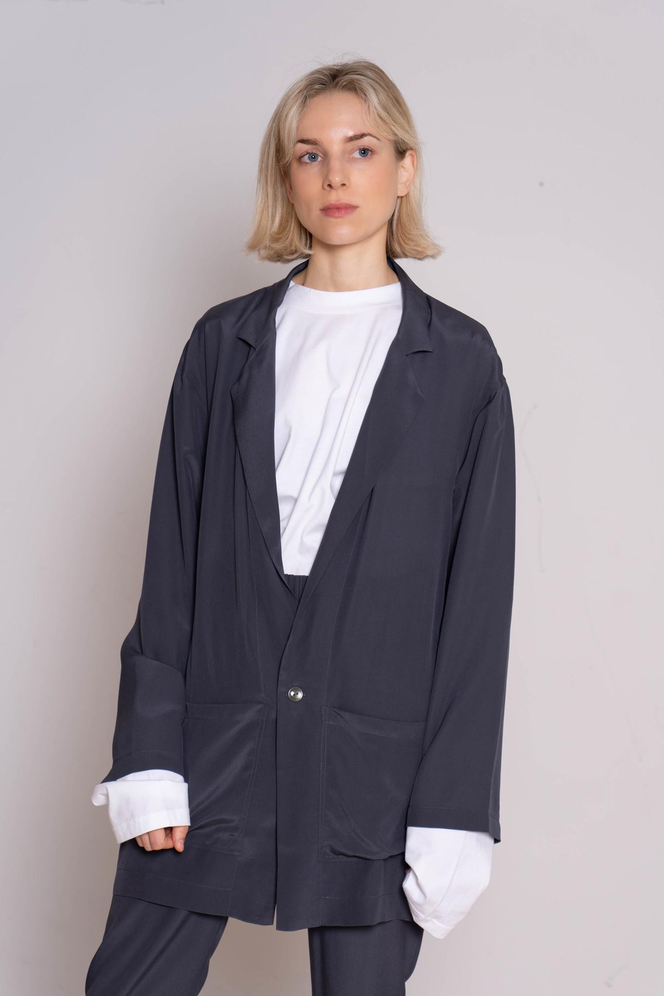 Donky blazer grey silk