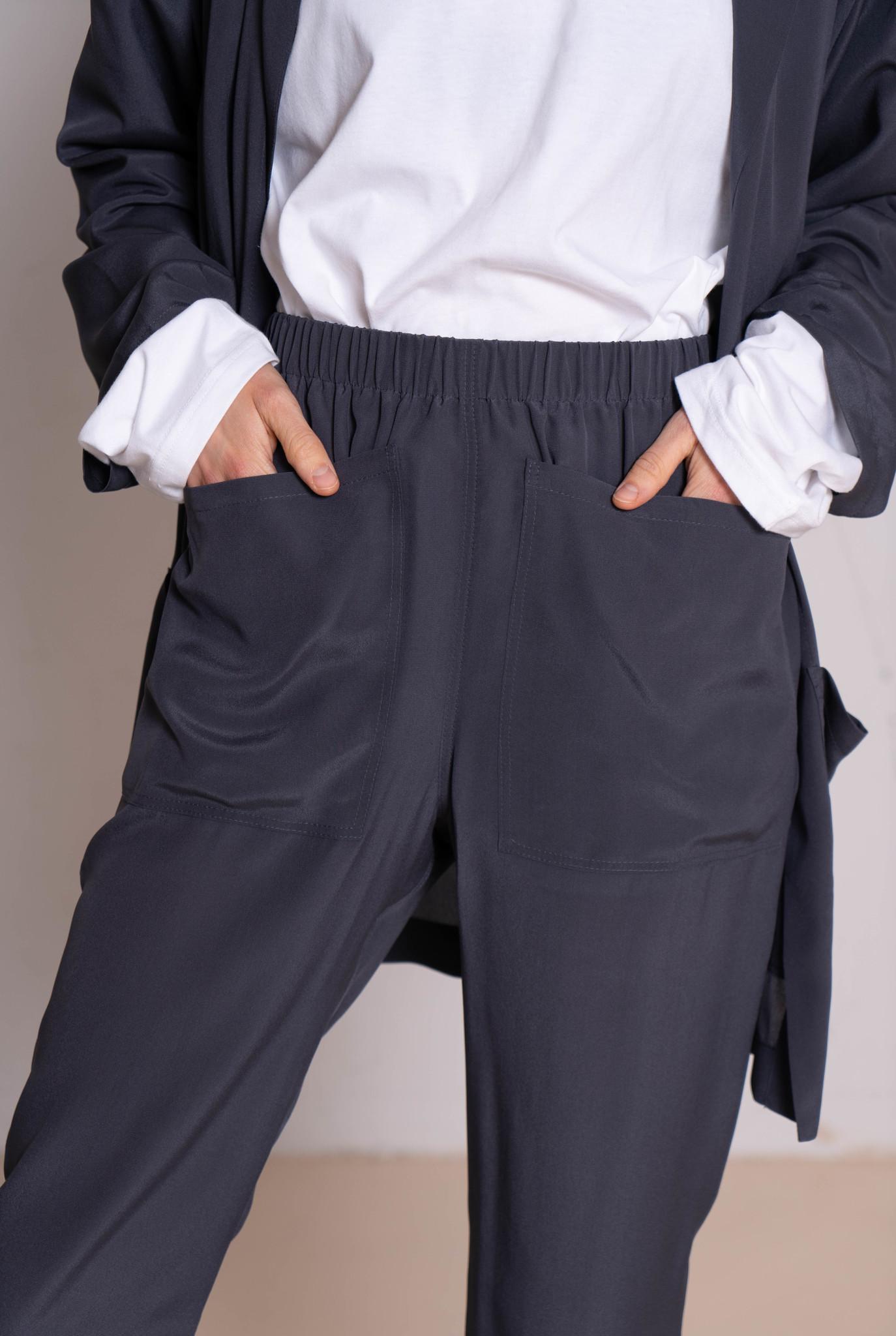 Pocky trouser grey silk