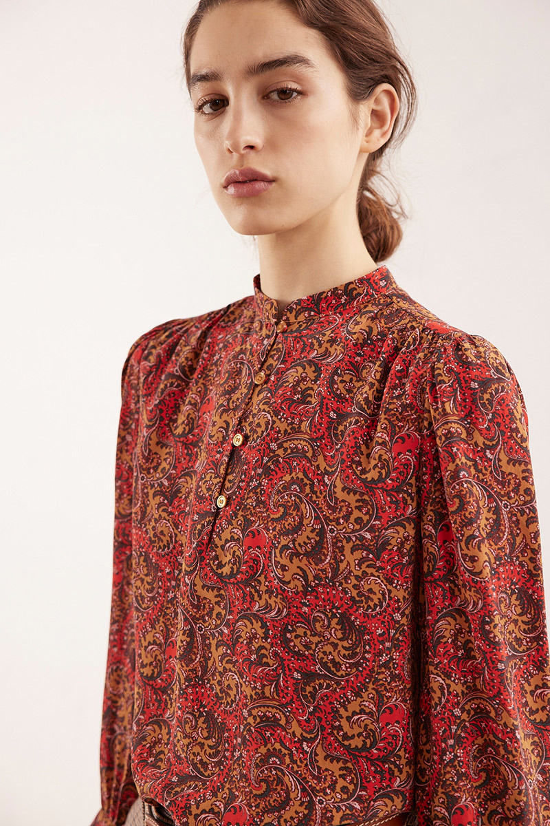 Ned blouse red print