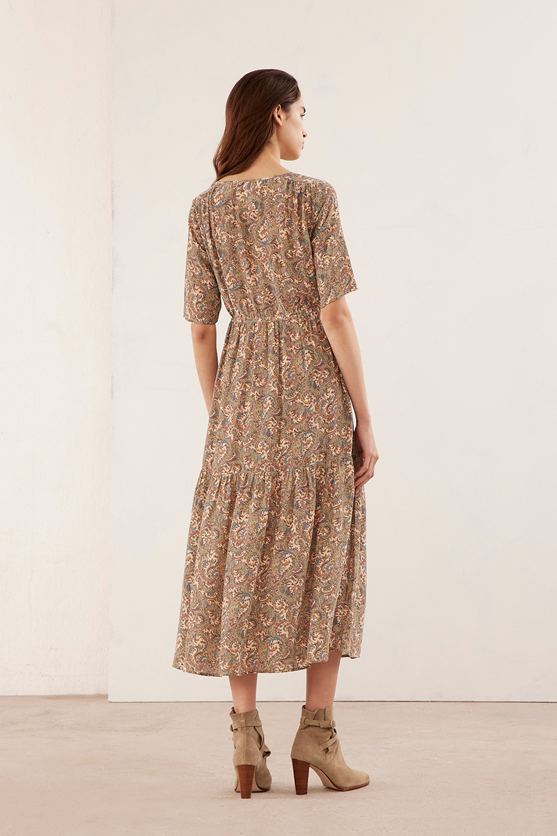 Raphaelle dress beige print