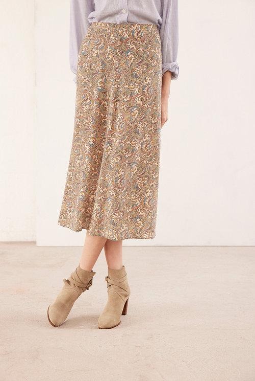 Rana skirt beige print