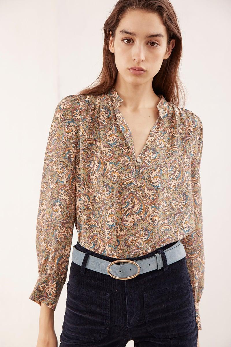 Ned blouse beige print