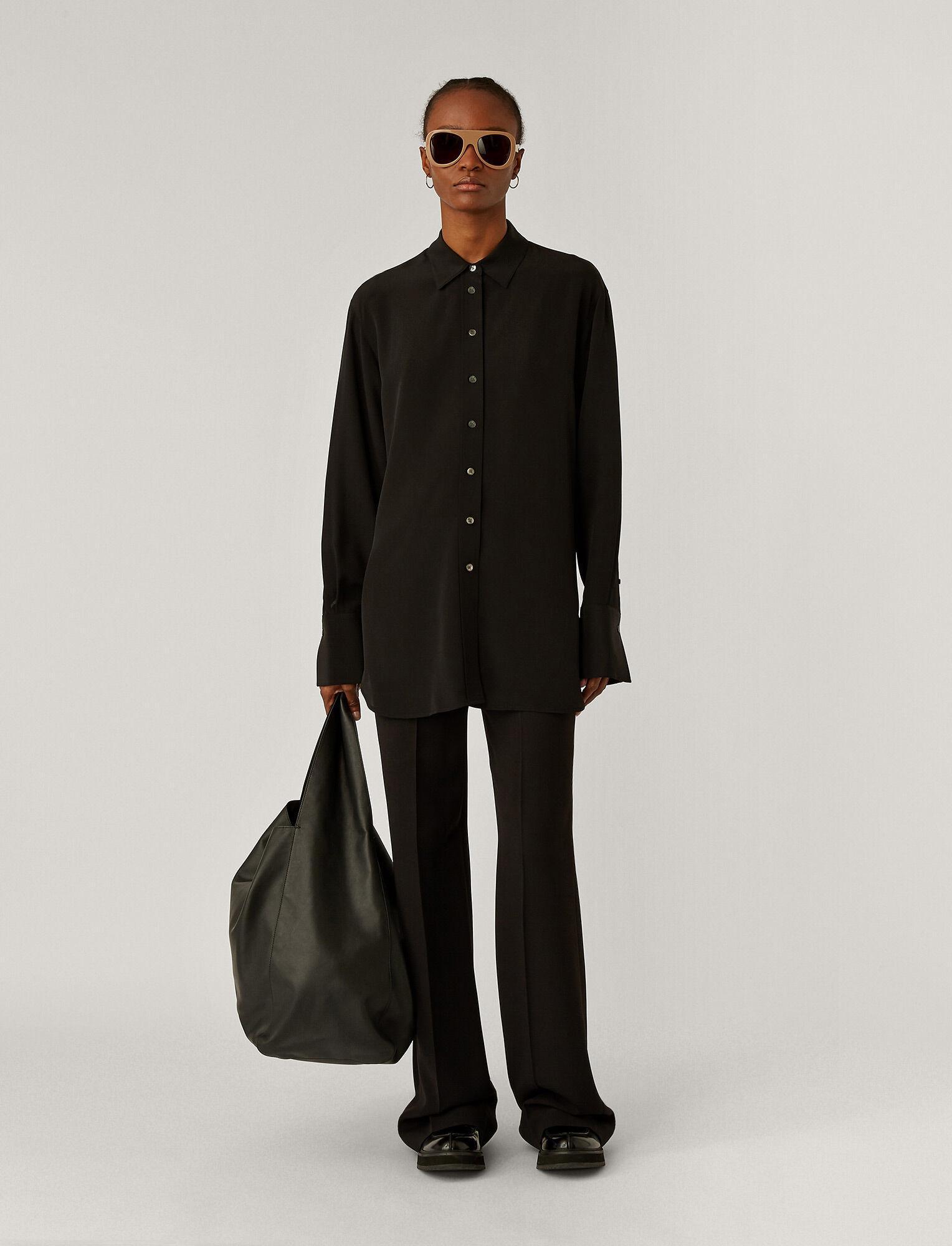 Brooks crepe blouse silk black