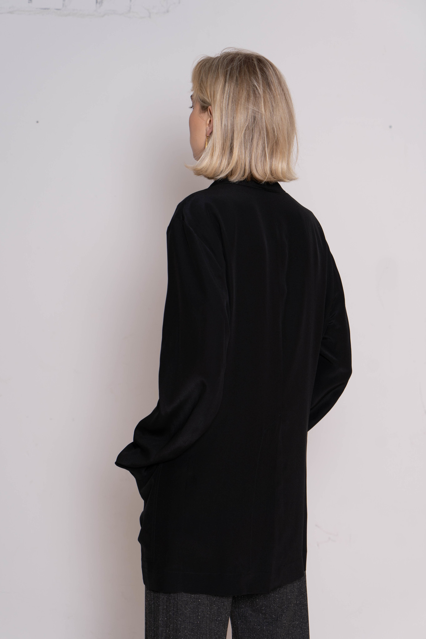 Don blazer black silk