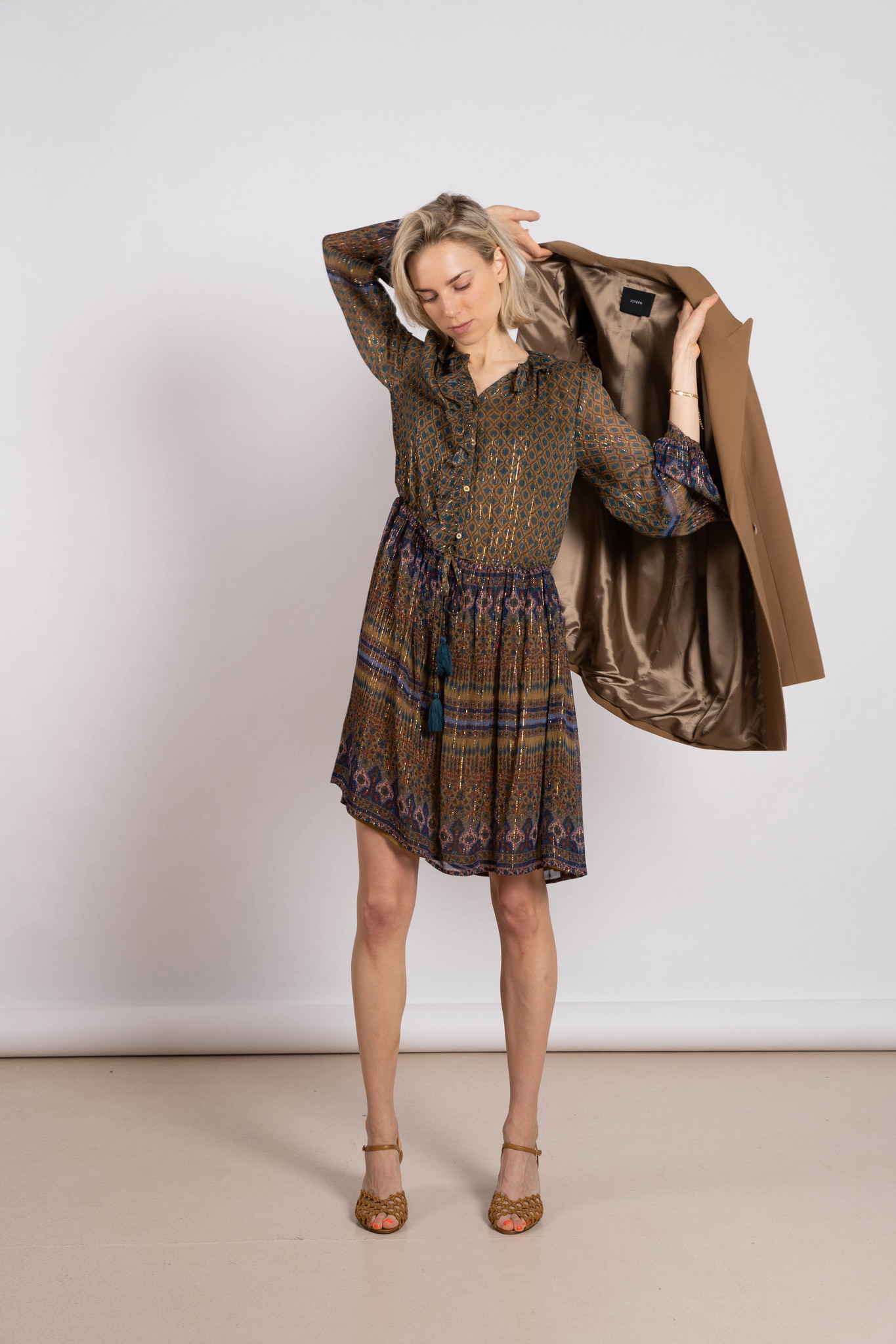 Prunelle dress bronze