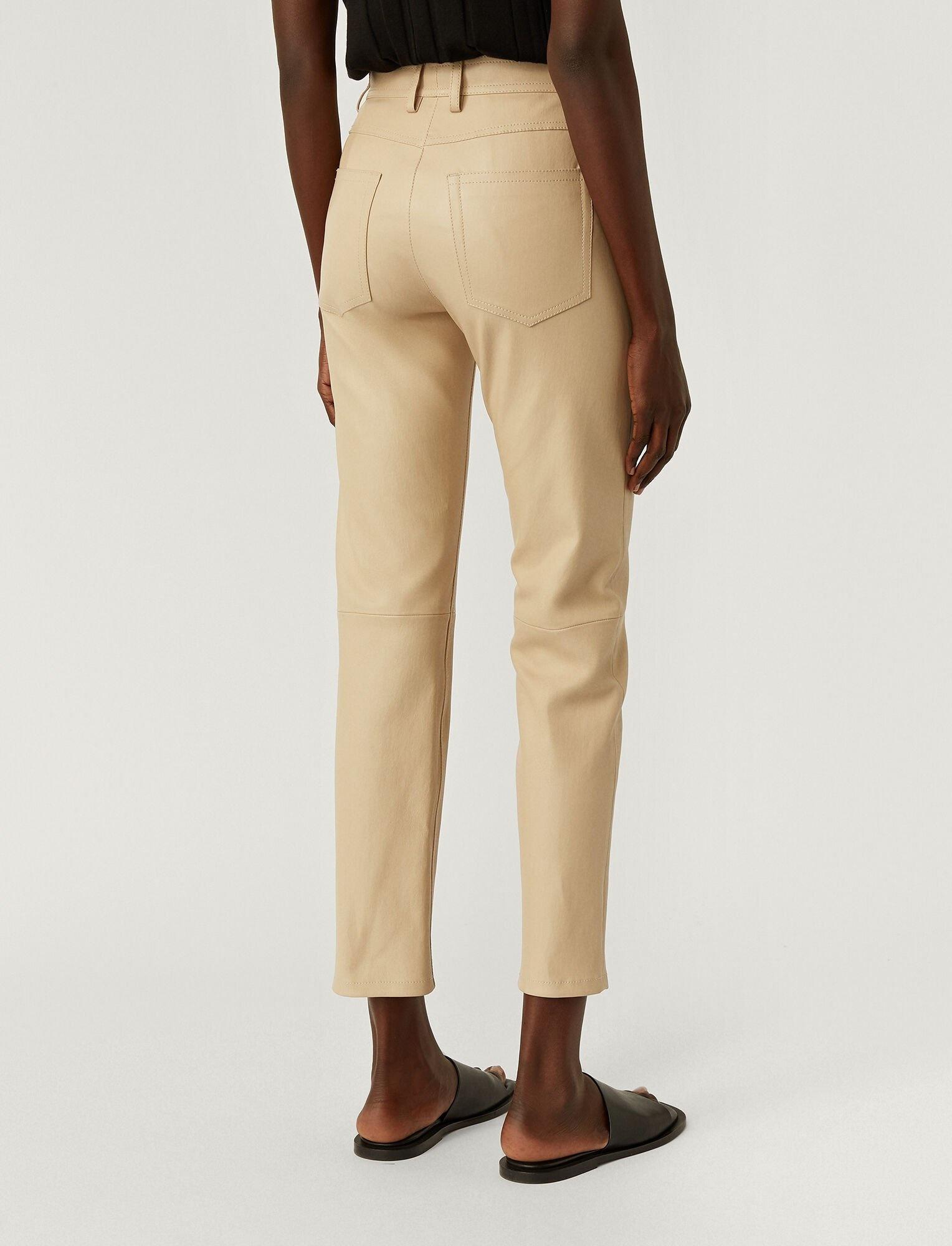 Teddy Leather Stretch Trouser Mastic